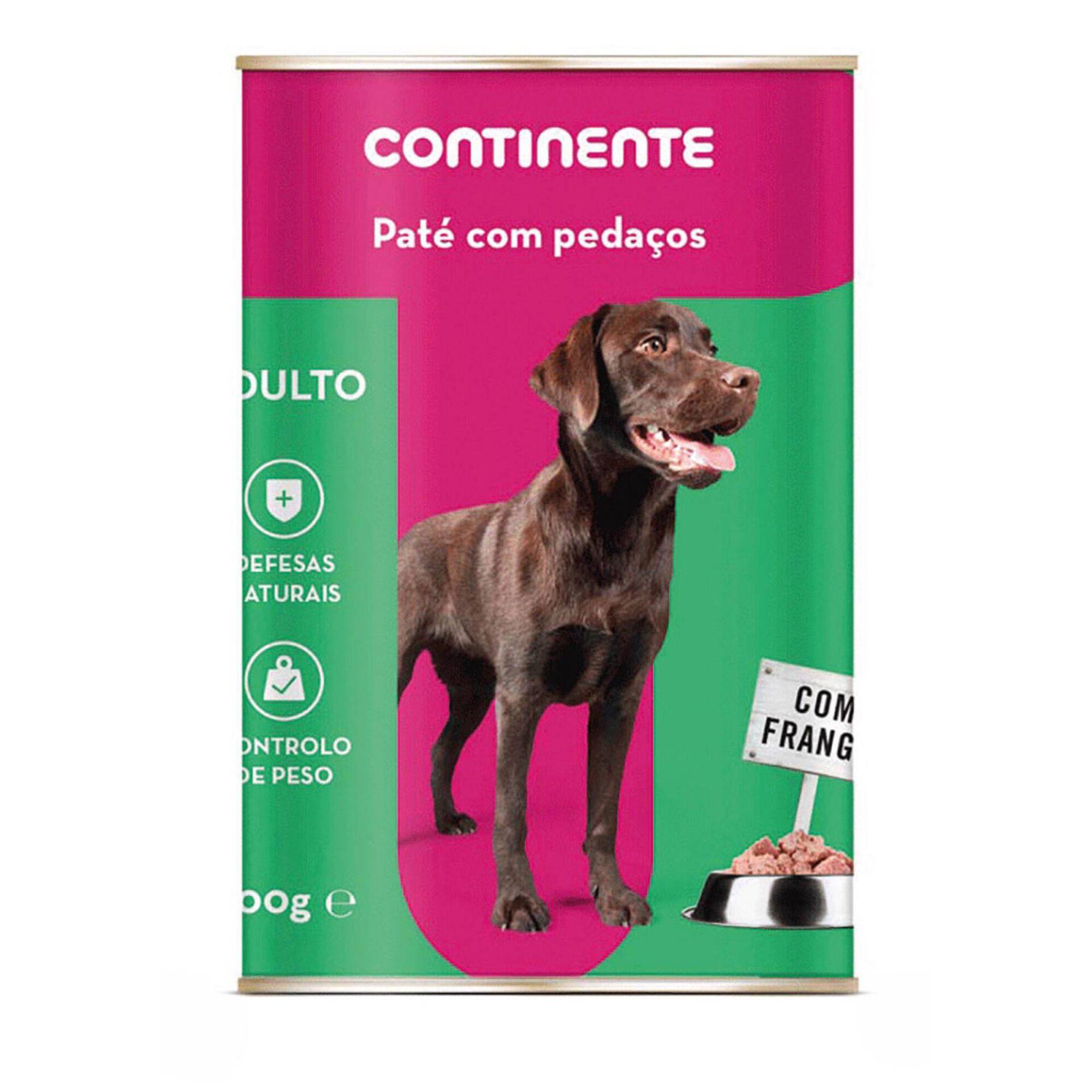 Comida Húmida para Cão Adulto Patê com Pedaços Frango Lata