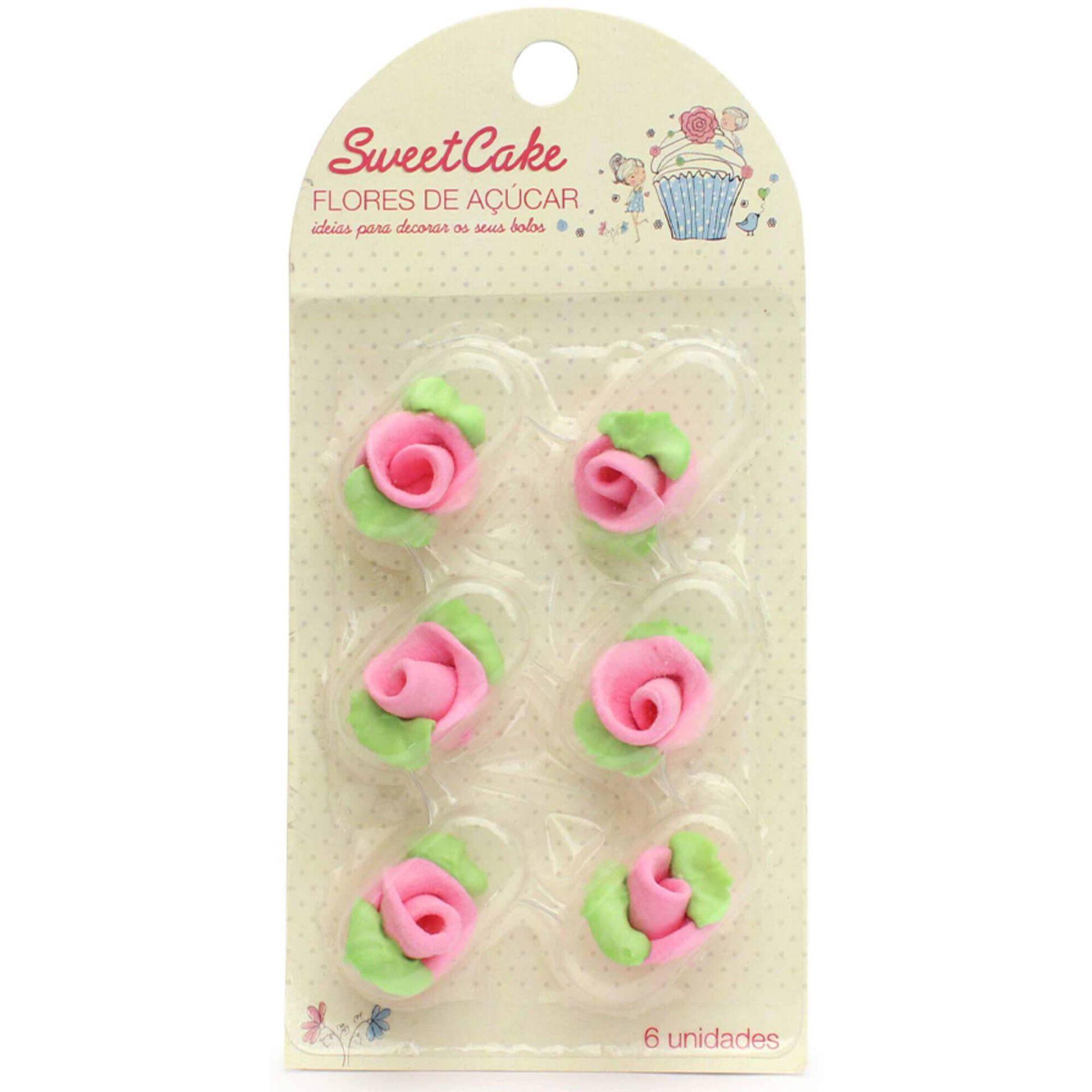 Rosa Decorativa para Bolos