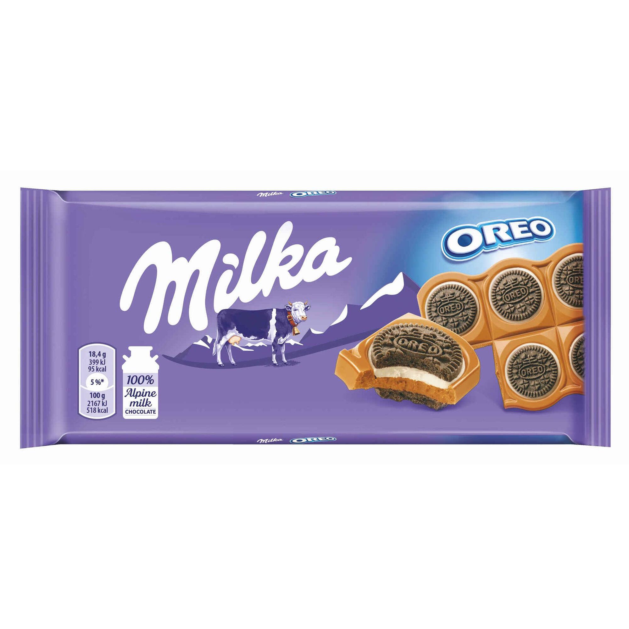 Tablete de Chocolate com Oreo Sandwich