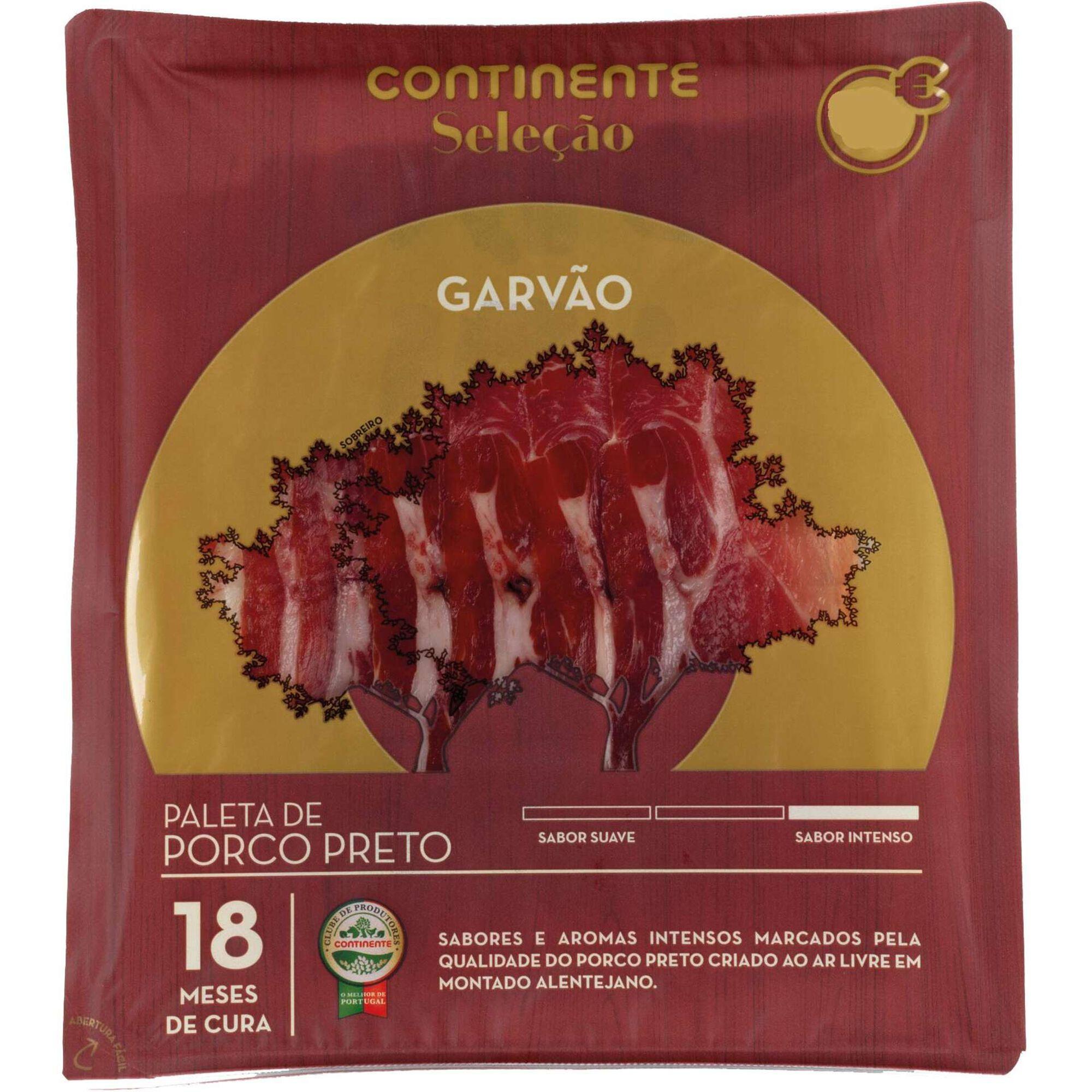 Paleta Garvão Porco Preto Fatiado
