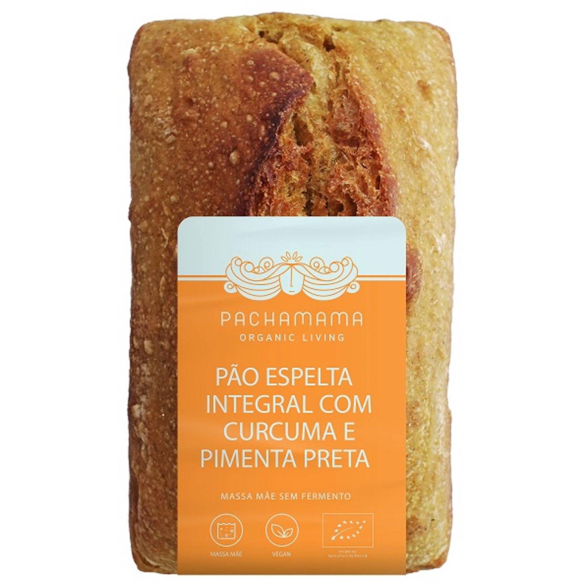 Pão Espelta Integral Curcuma e Pimenta Preta
