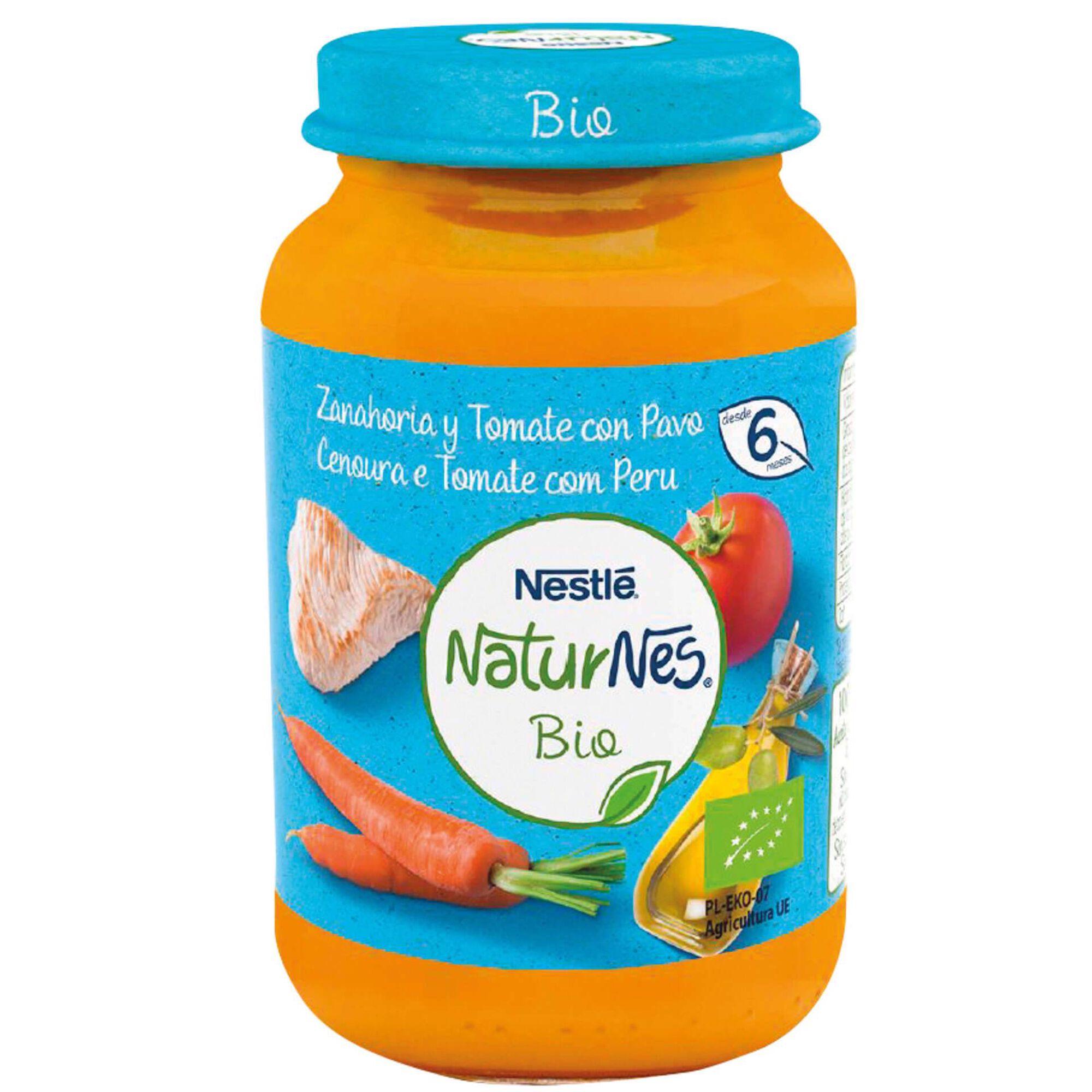 Refeição para Bebé Cenoura, Tomate e Peru Naturnes Bio +6 Meses