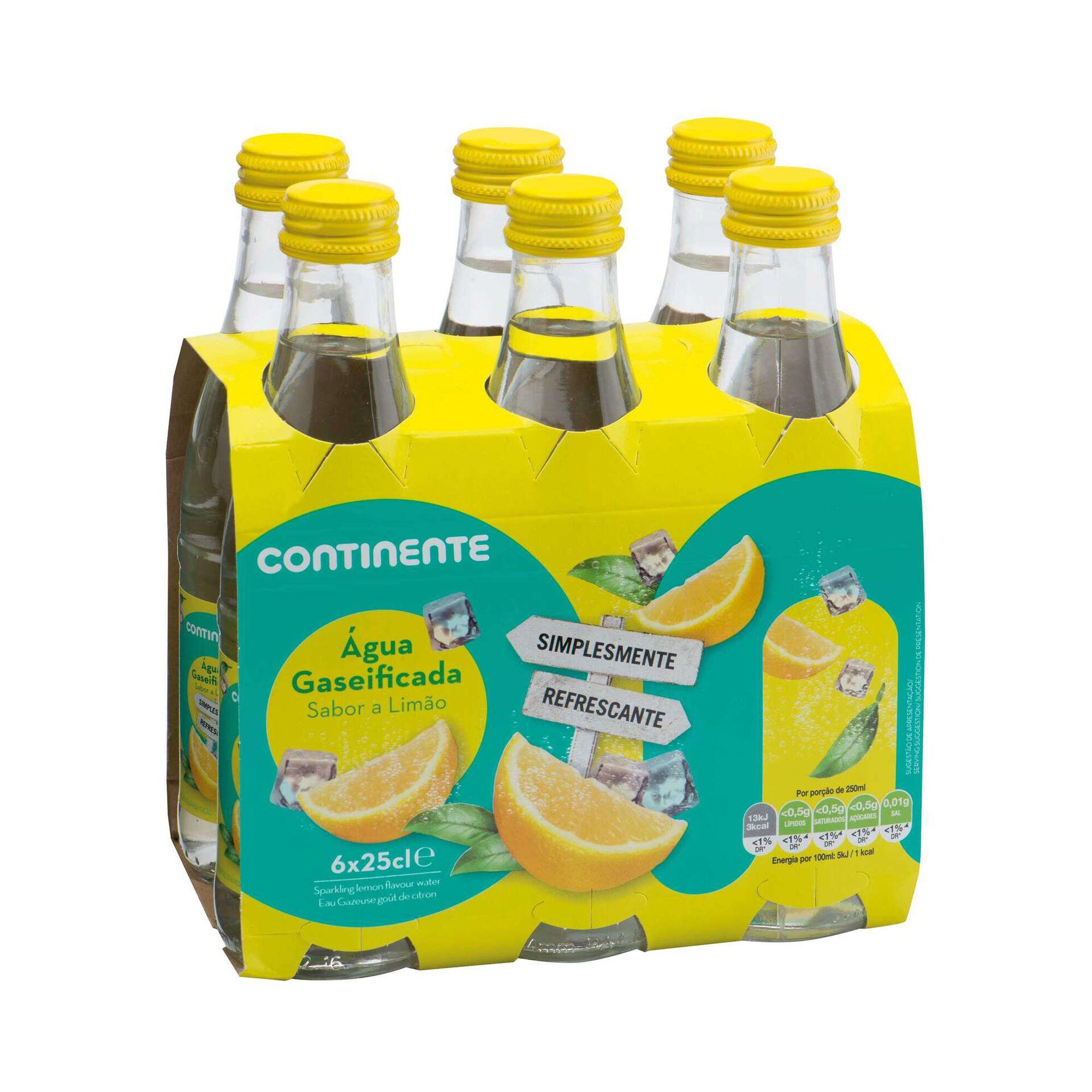 Água com gás de Limão