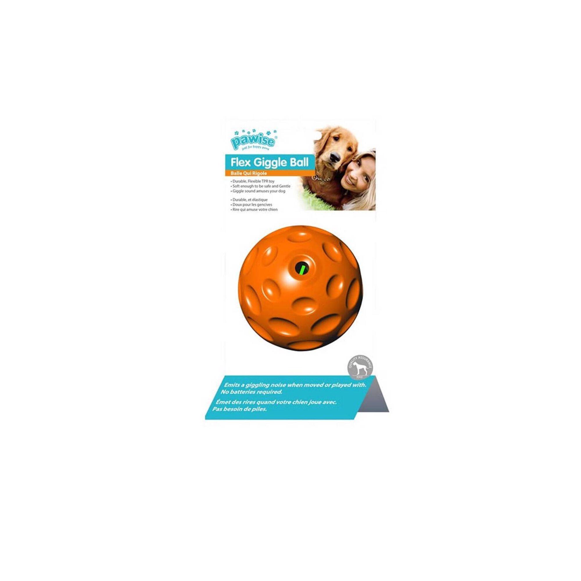 Bola para Cão Giggle Laranja 7 cm