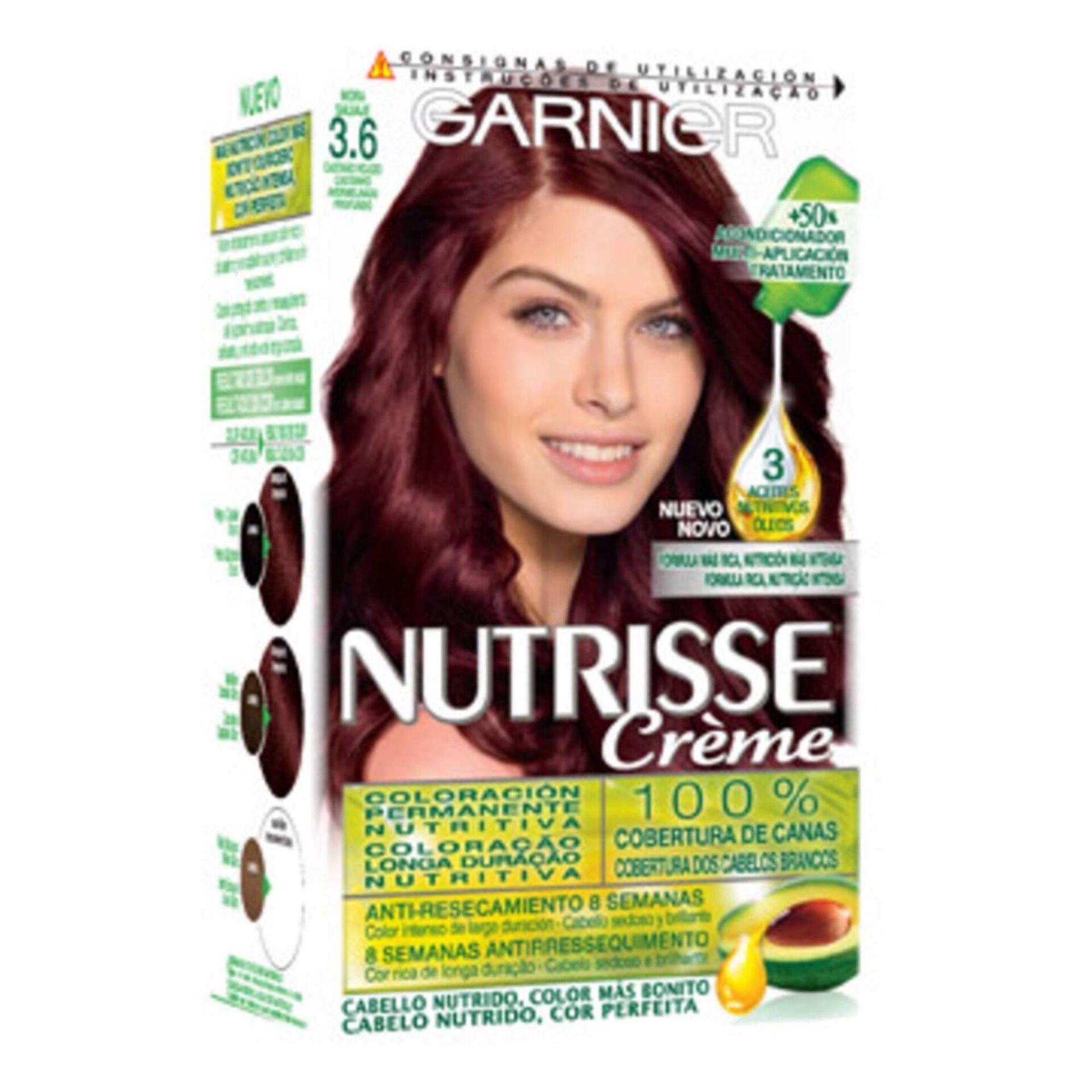 Coloração Permanente Nutrisse Creme Castanho Avermelhado Profundo 3.6