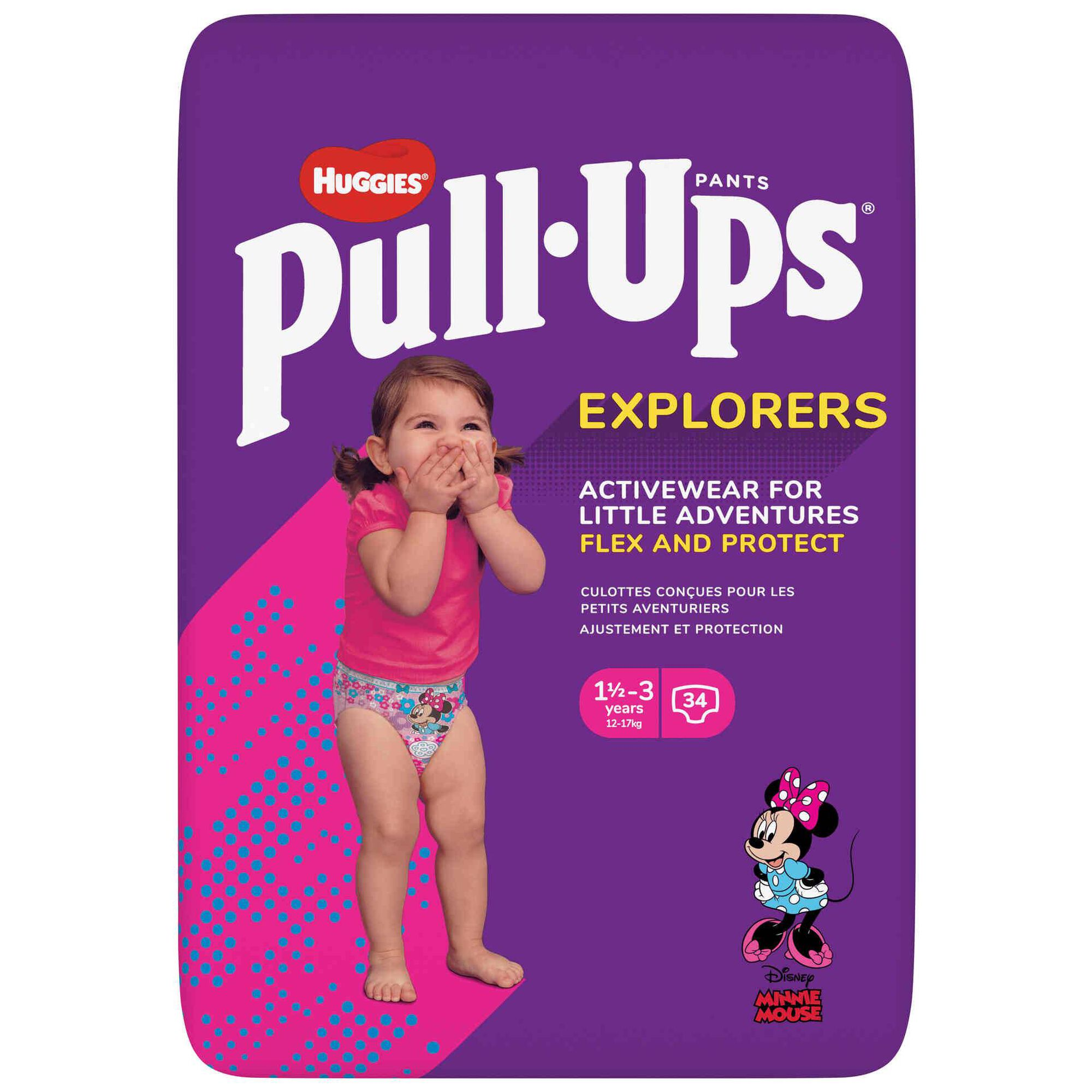Fraldas Cueca Pull Ups Menina 12-17kg 1-3 Anos