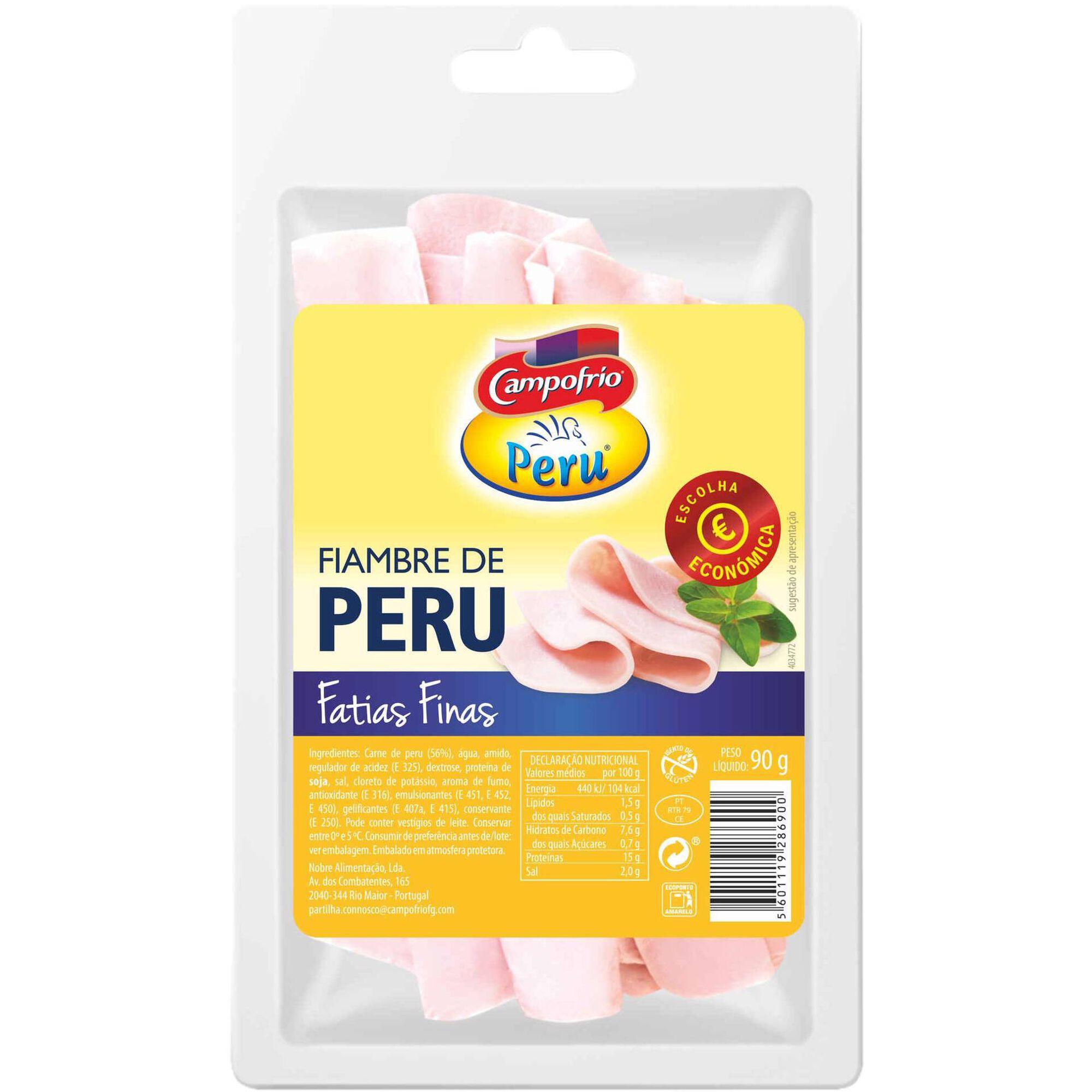 Fiambre Peito de Peru Fatias Finas