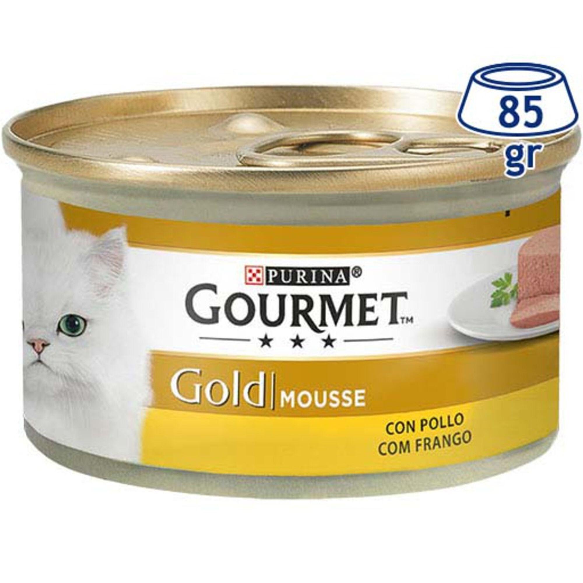 Comida Húmida para Gato Gold Mousse com Frango