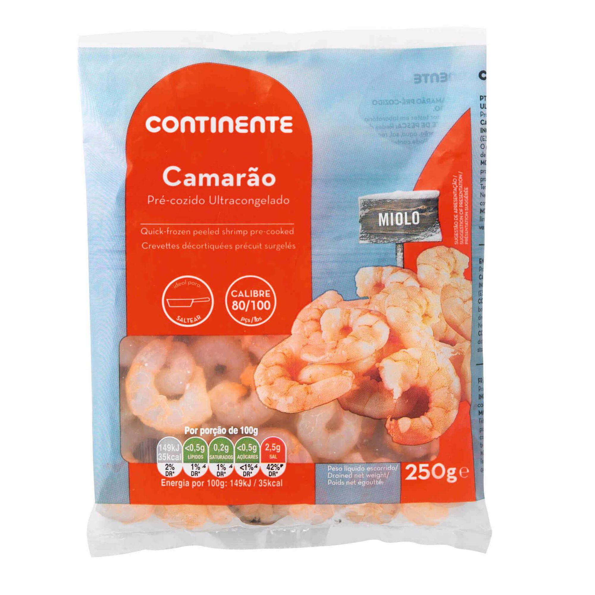 Miolo de Camarão 80/100 Ultracongelado