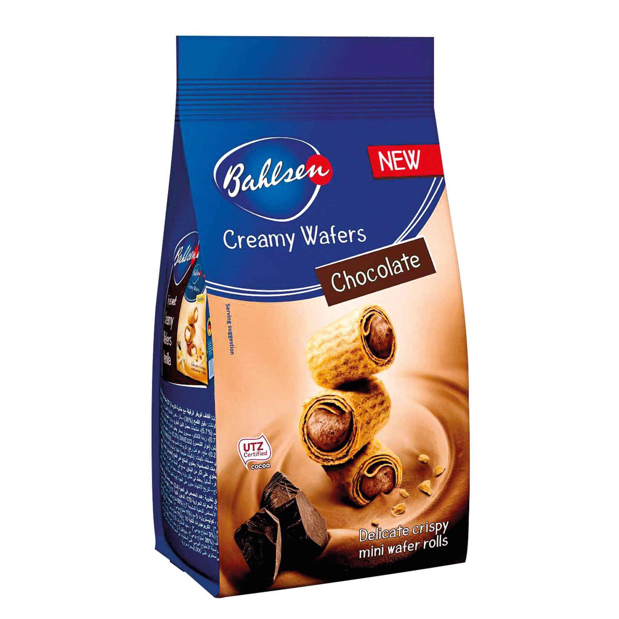 Bolachas Wafers com Creme de Chocolate