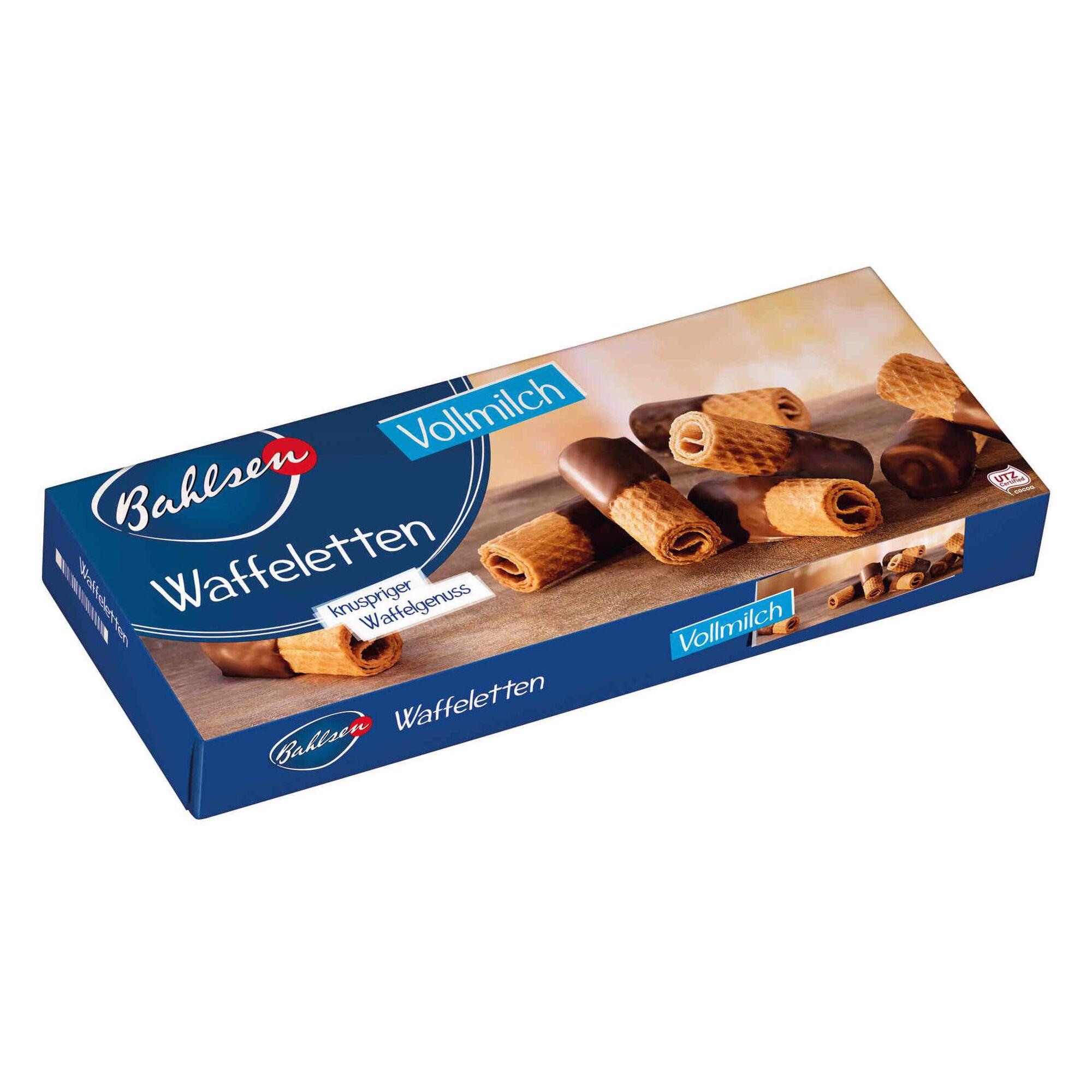 Bolachas Wafer com Chocolate de Leite Waffeletten