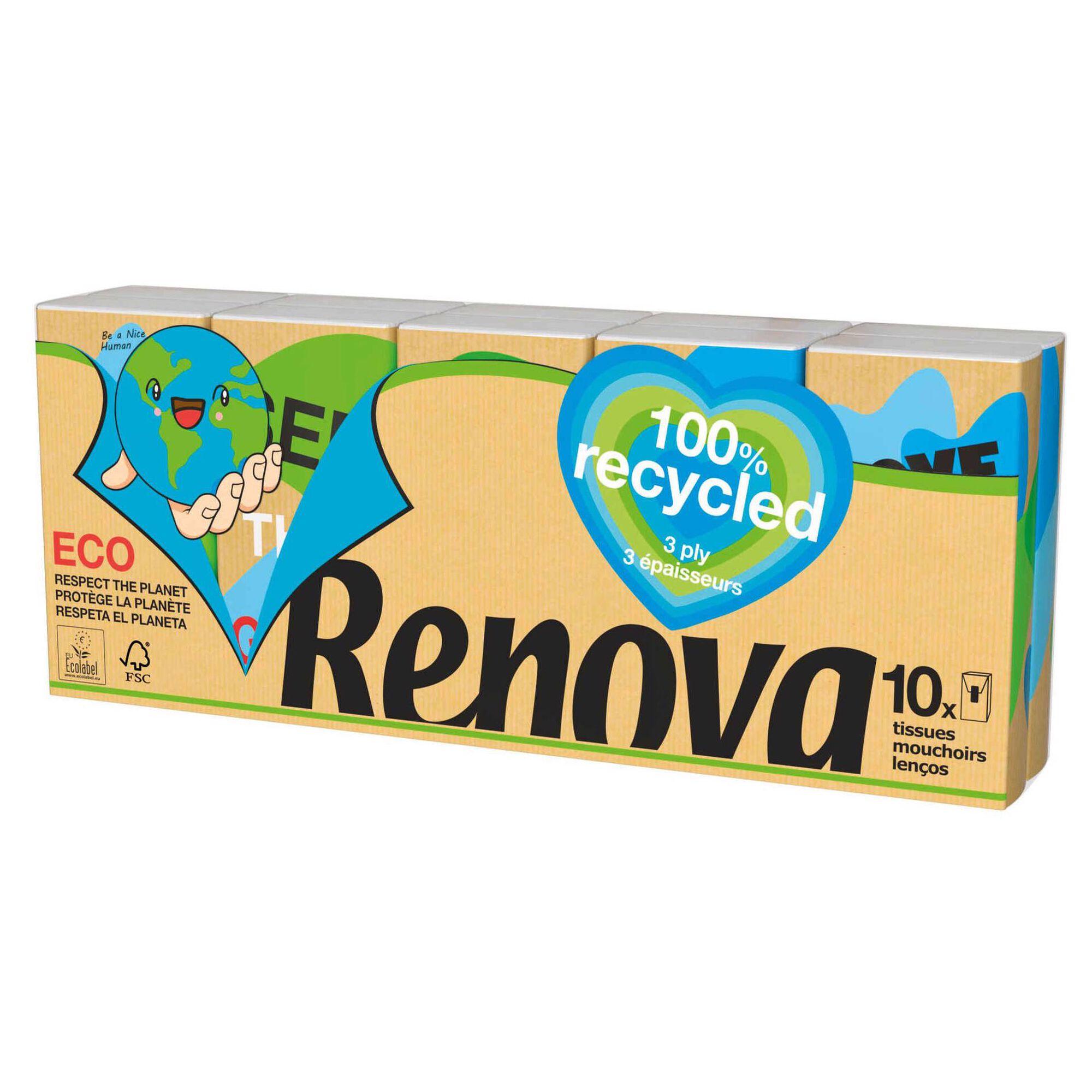 Lenços de Bolso 100% Recycled 3 Folhas