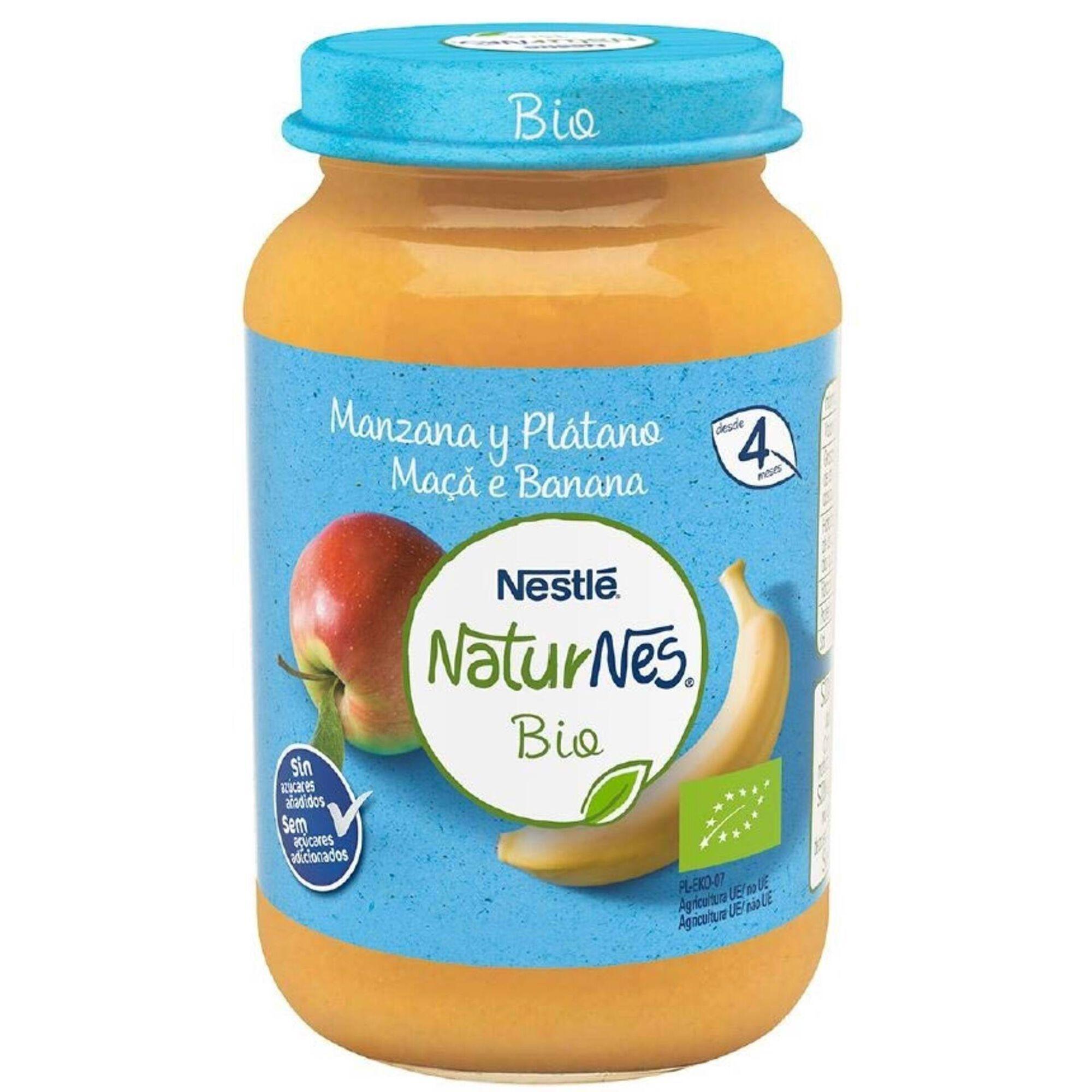 Boião de Fruta Maçã e Banana Naturnes Bio +4 Meses