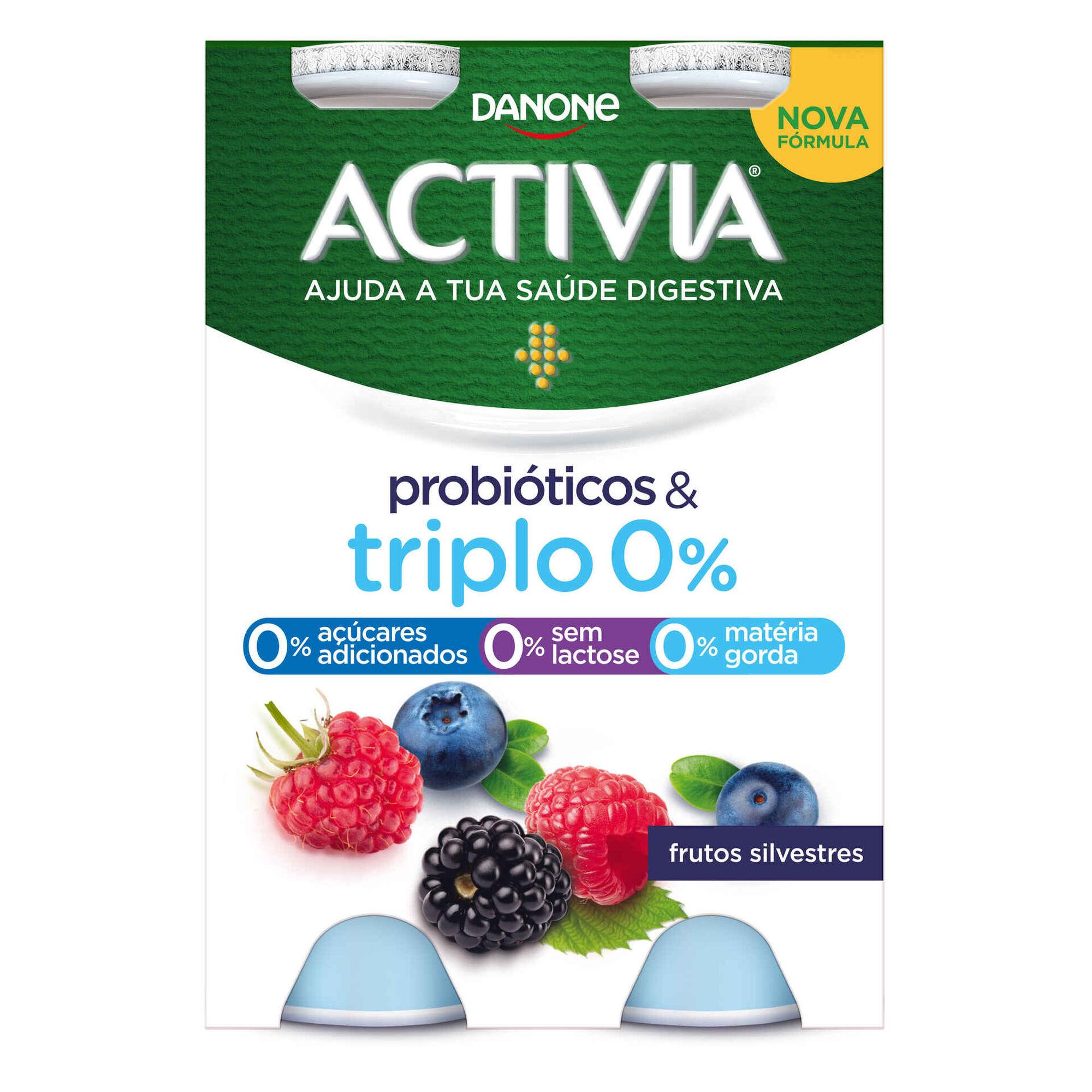 Iogurte Líquido Bifidus Magro Probióticos Frutos Silvestres Activia