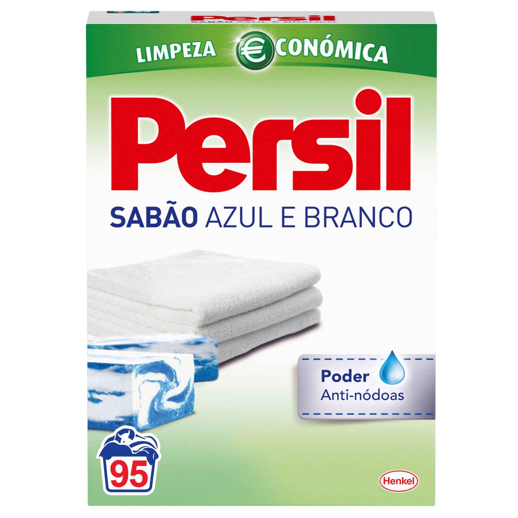 Detergente Máquina Roupa Pó Sabão Azul e Branco