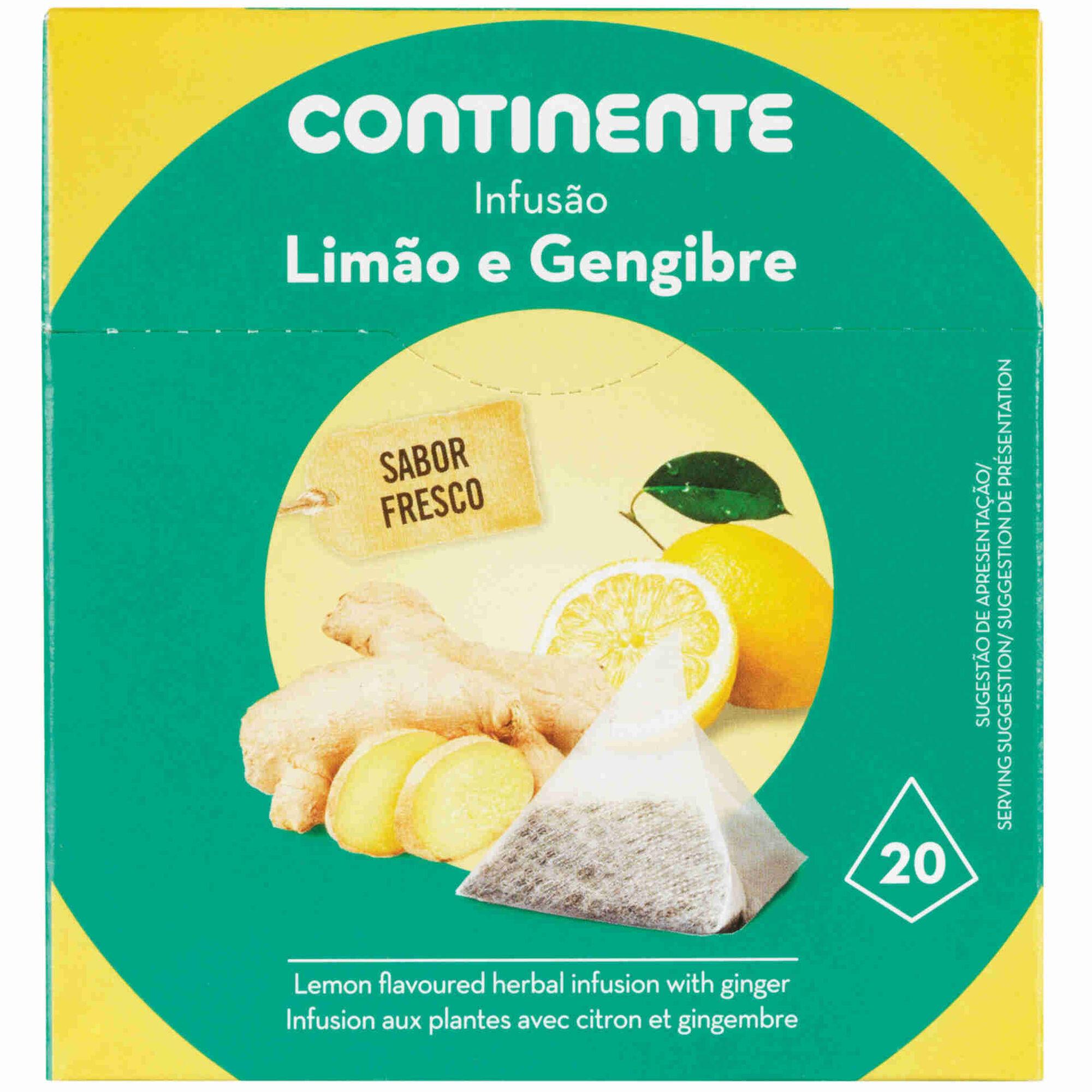 Infusão Limão e Gengibre Pyramid