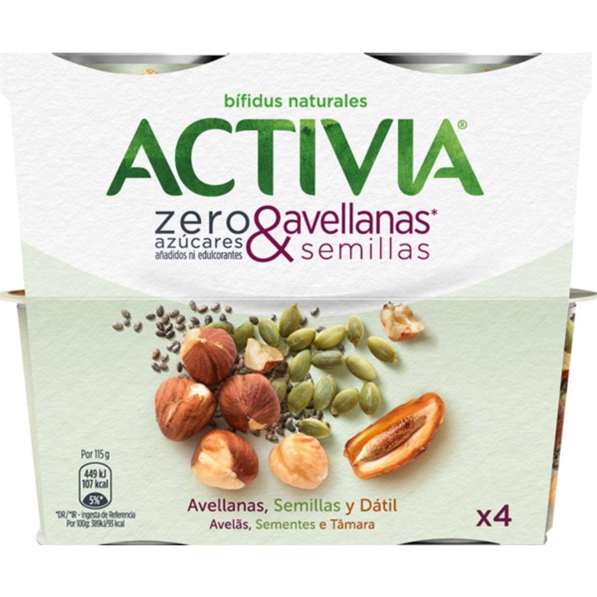 Iogurte Bifidus Pedaços Avelã e Sementes Activia sem Açúcar