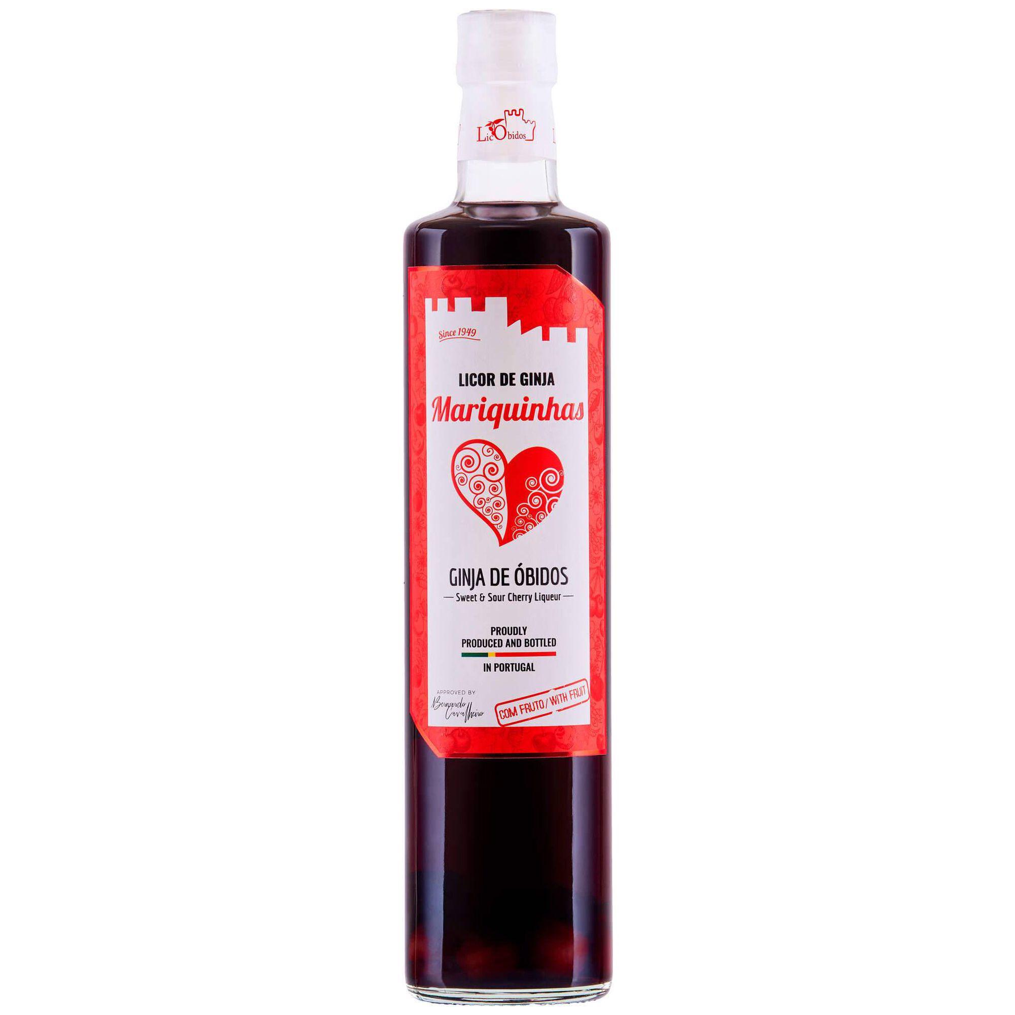Licor de Ginja de Óbidos com Fruto Mariquinhas