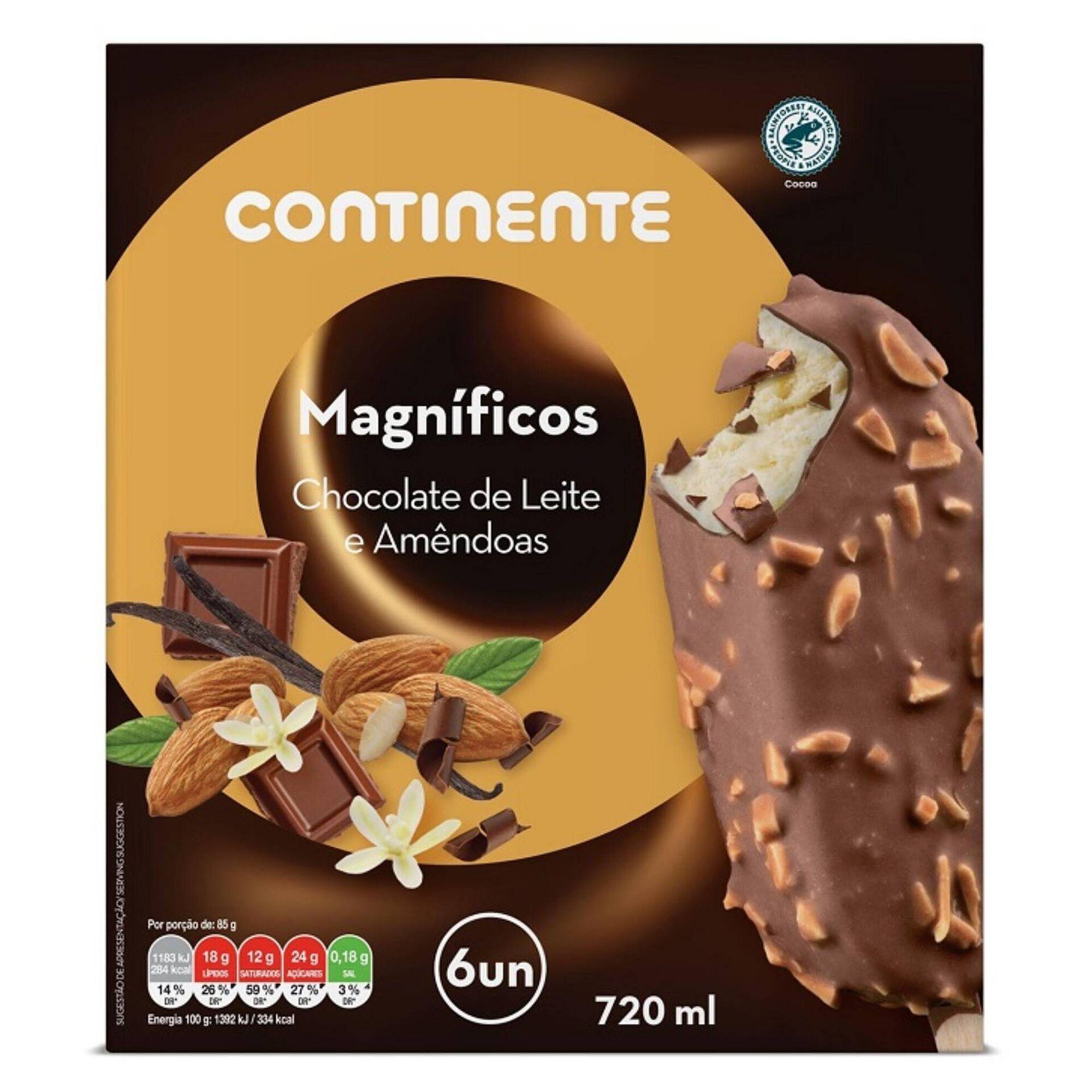 Gelado Magnífico Chocolate Leite e Amêndoa
