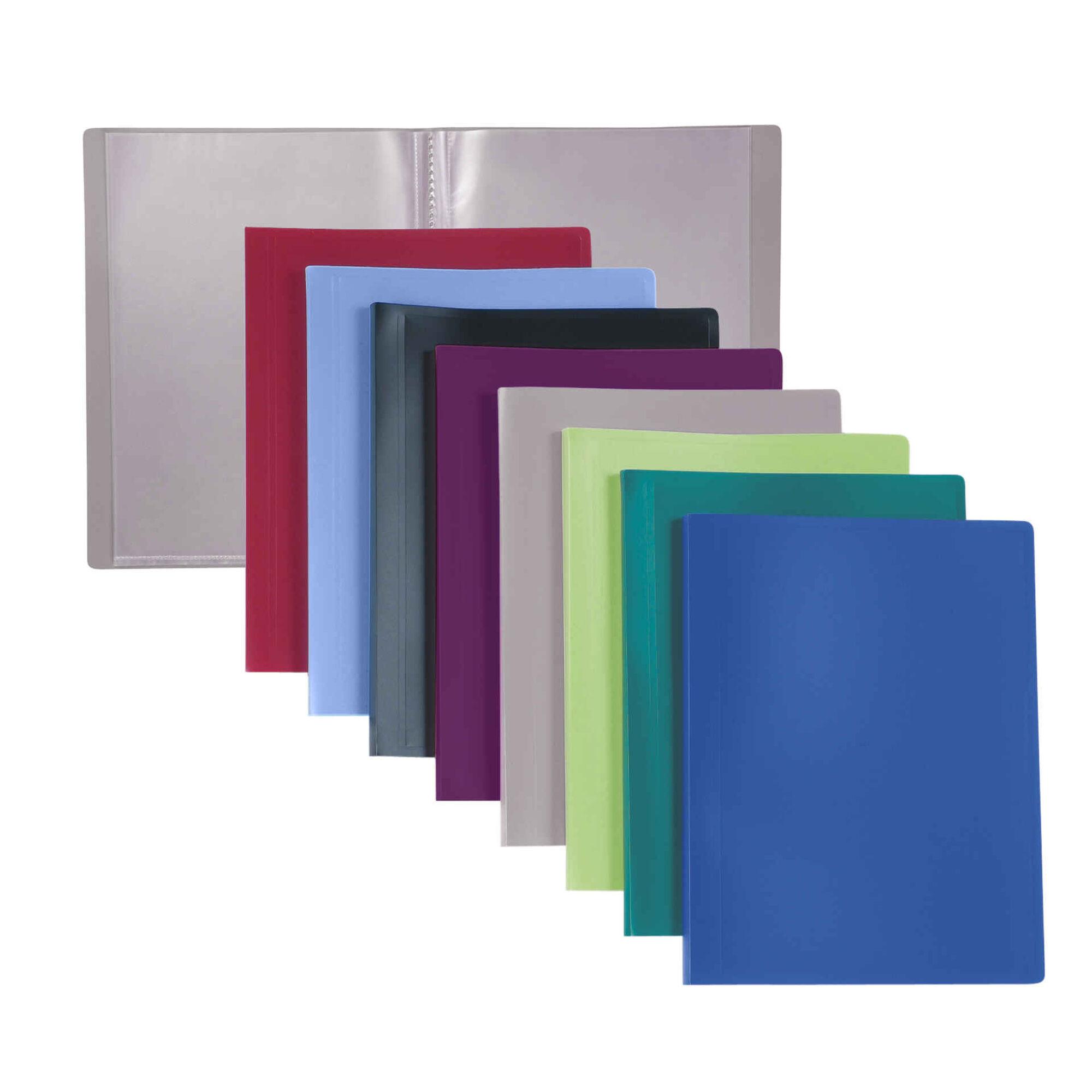 Portefólio com 100 Bolsas A4 (várias cores)