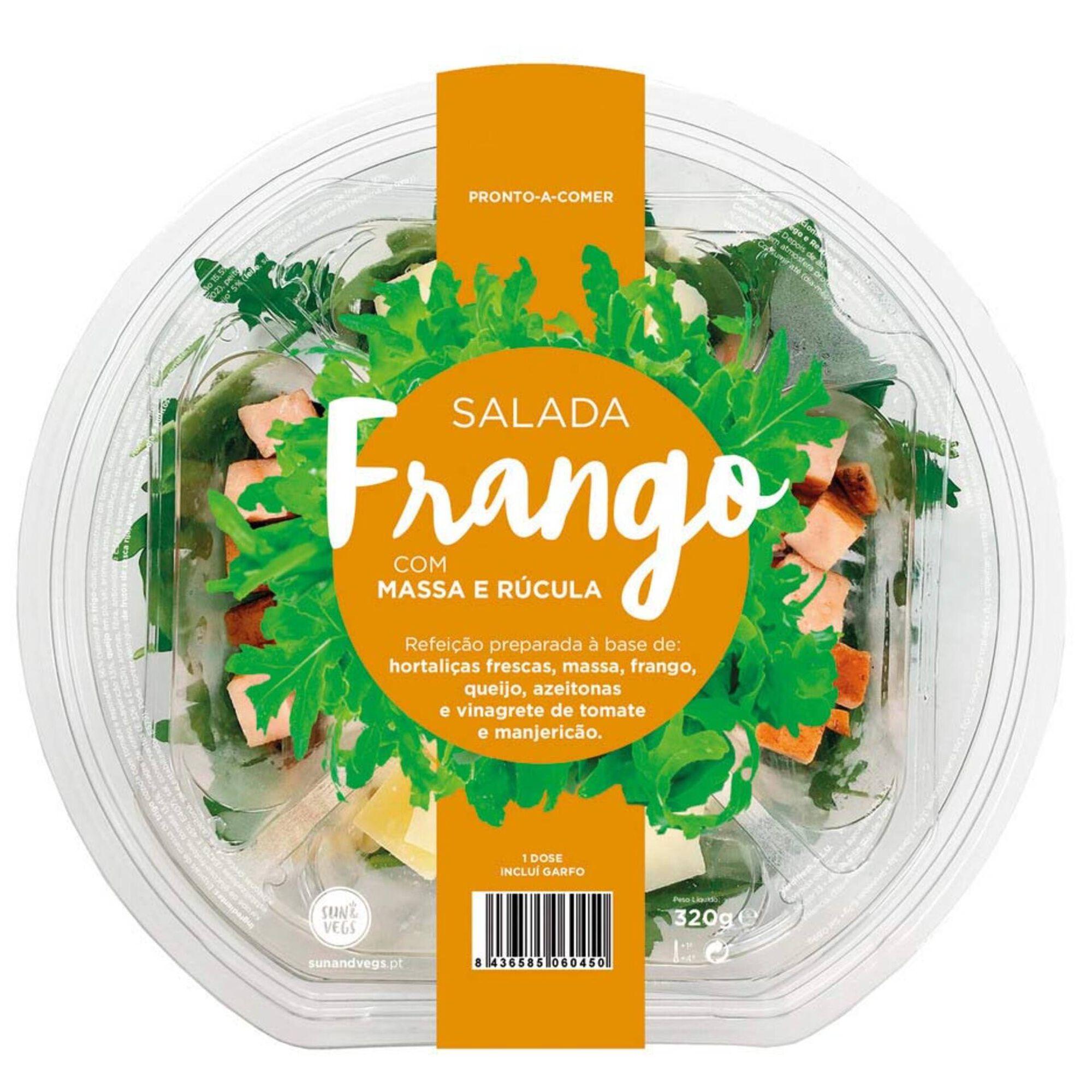 Salada de Frango com Massa e Rúcula