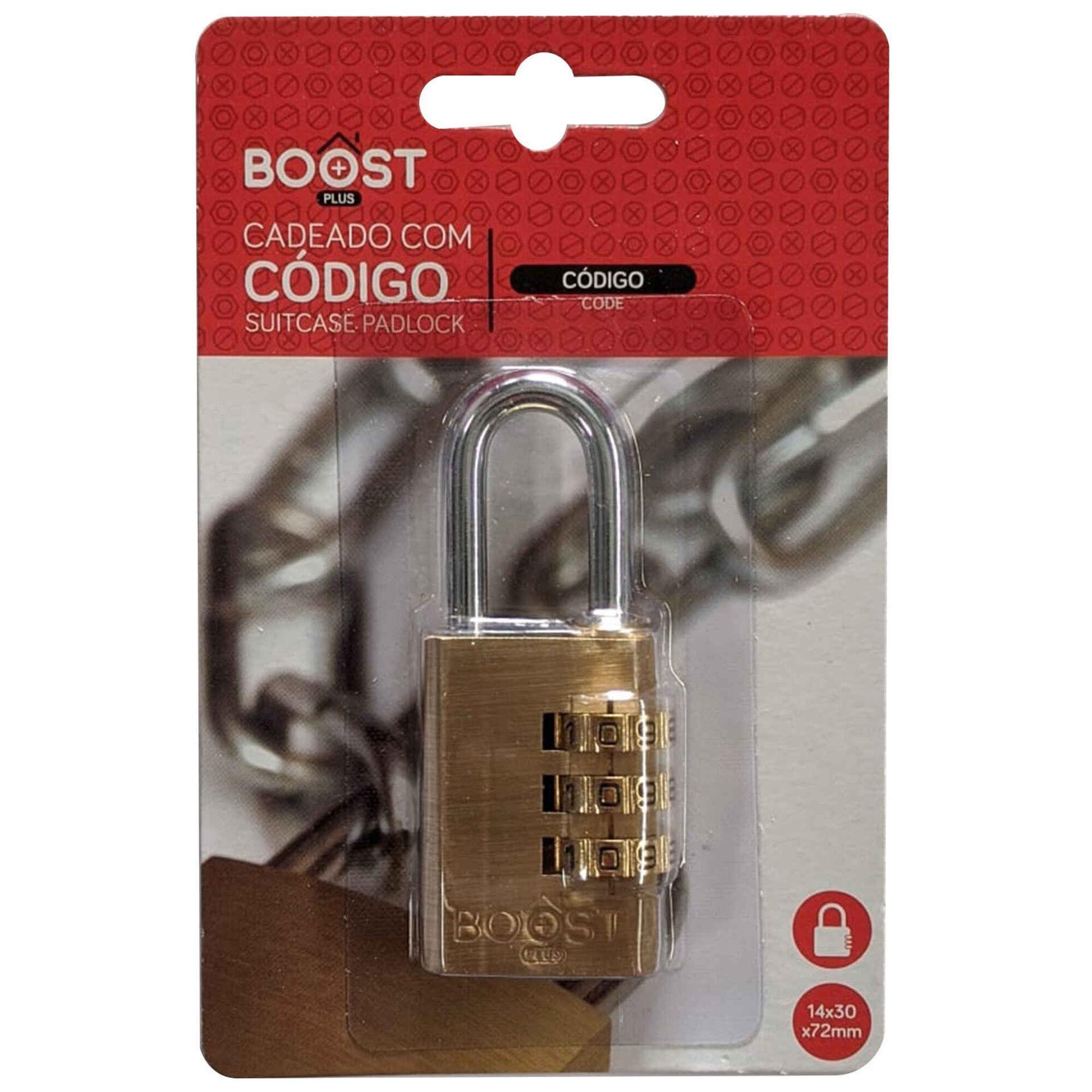 Cadeado com Código Dourado