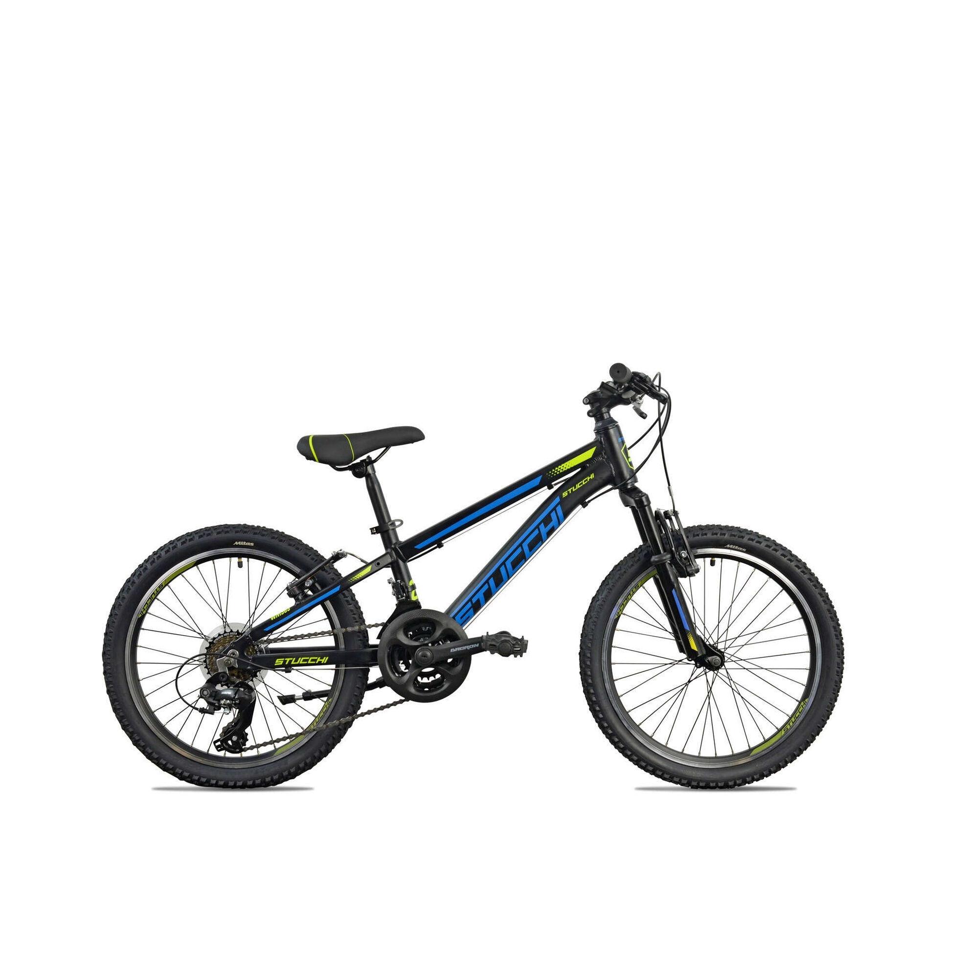 """Bicicleta Júnior Roda 20"""" 7-9 Anos 21V Preta"""