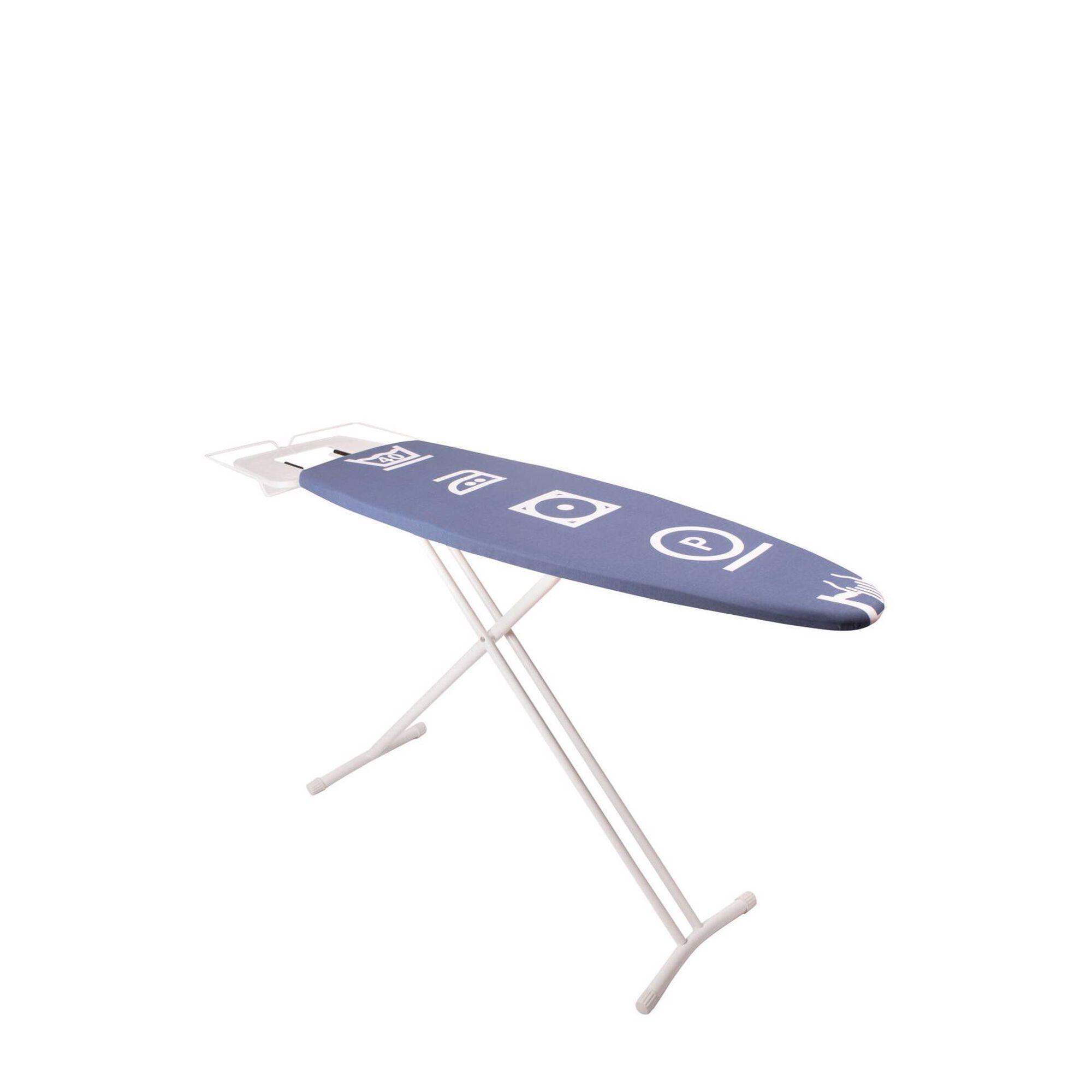 Tábua Engomar para Caldeira 124x40cm Símbolos Azuis