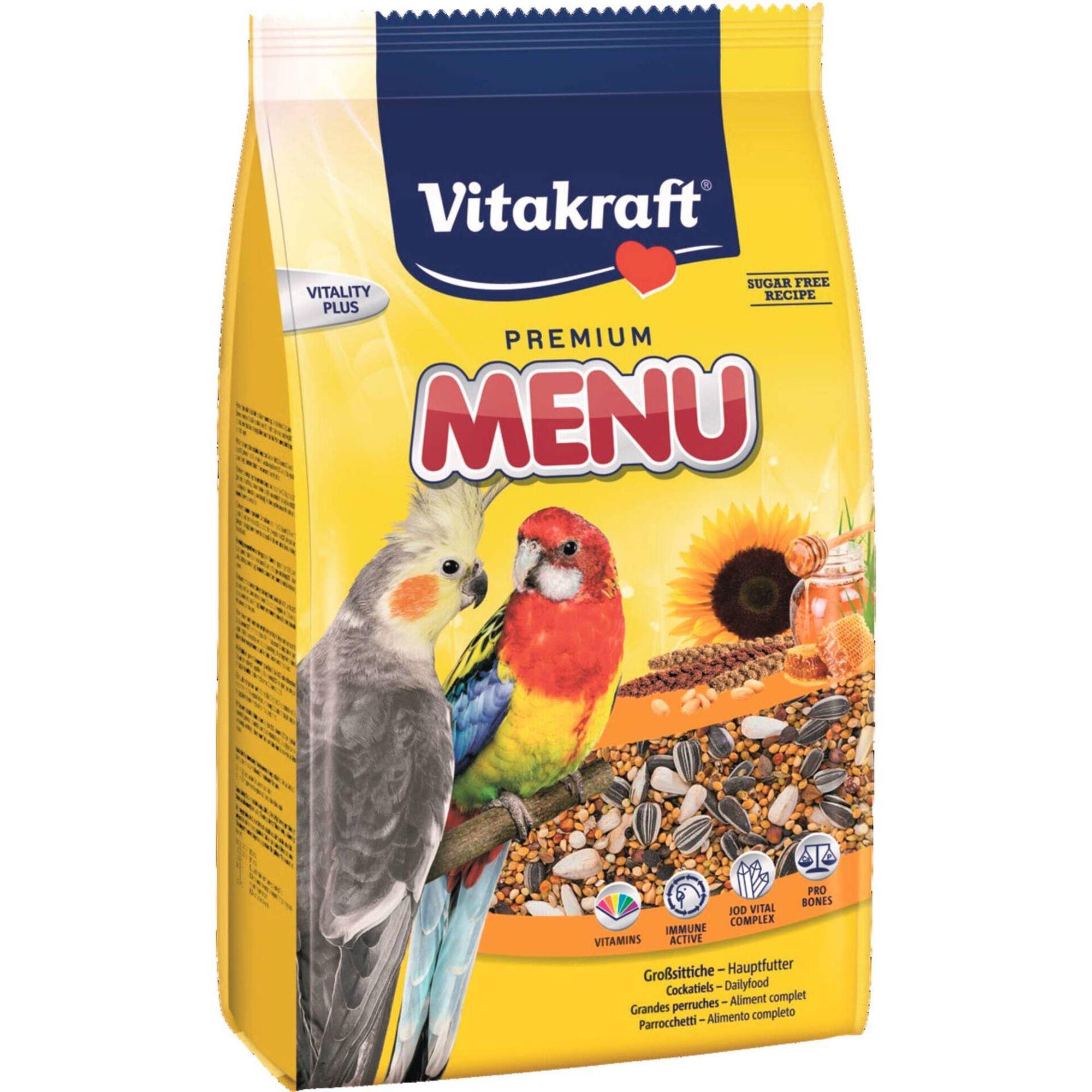 Comida para Catatua e Agapornis Premium Menu