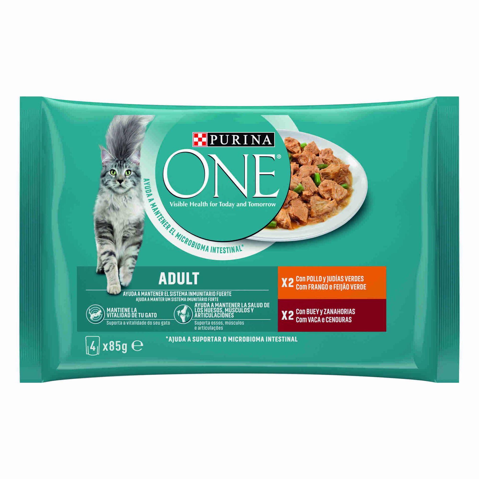 Comida Húmida para Gato Adulto Frango e Vaca Saquetas