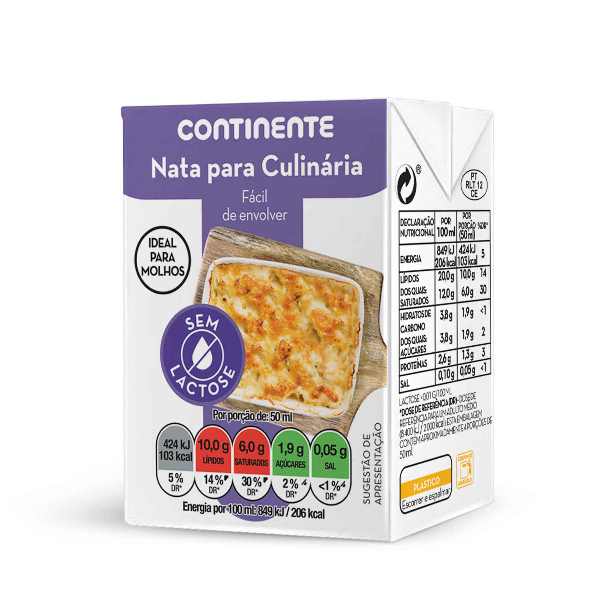 Nata para Culinária sem Lactose