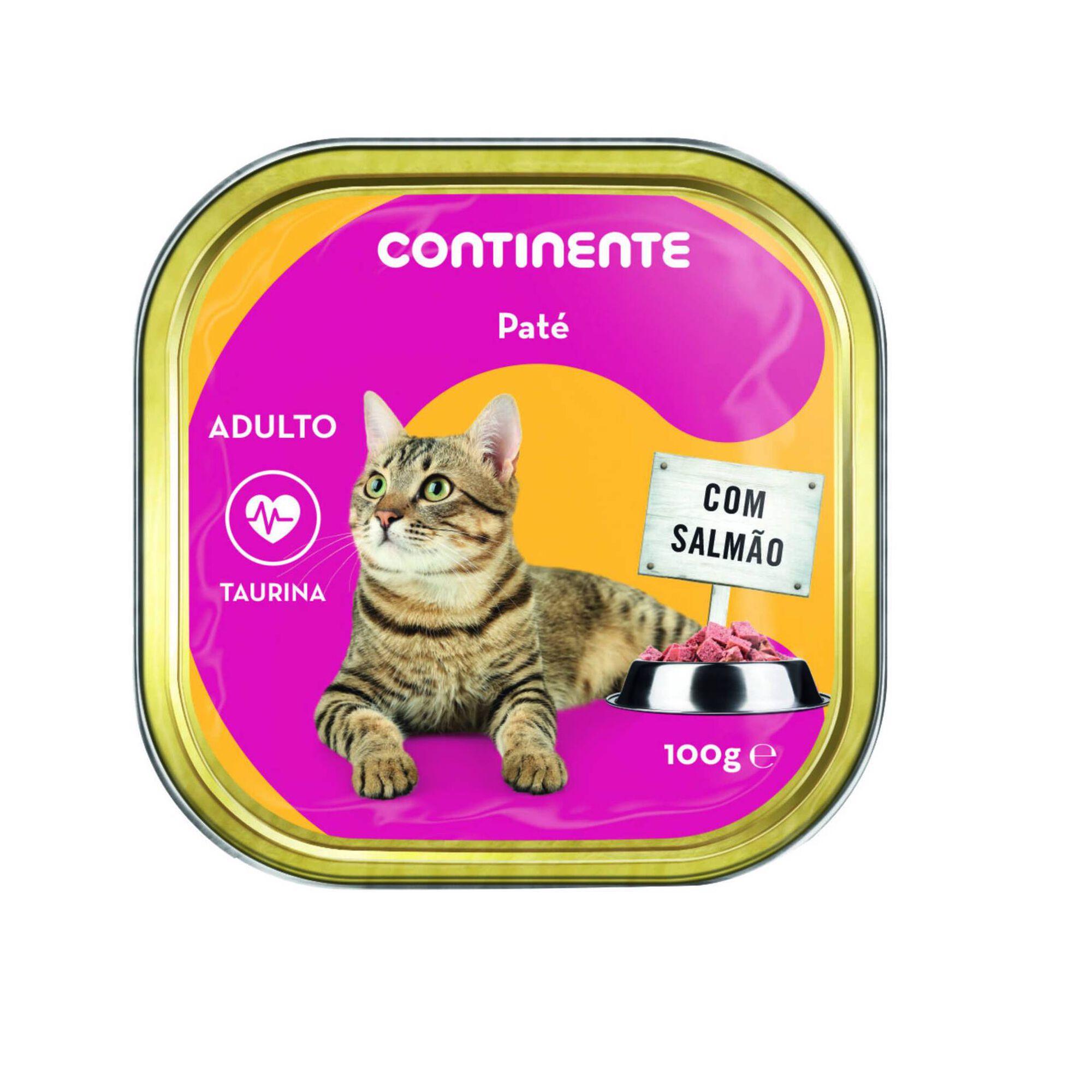 Comida Húmida para Gato Adulto Patê Salmão Terrina