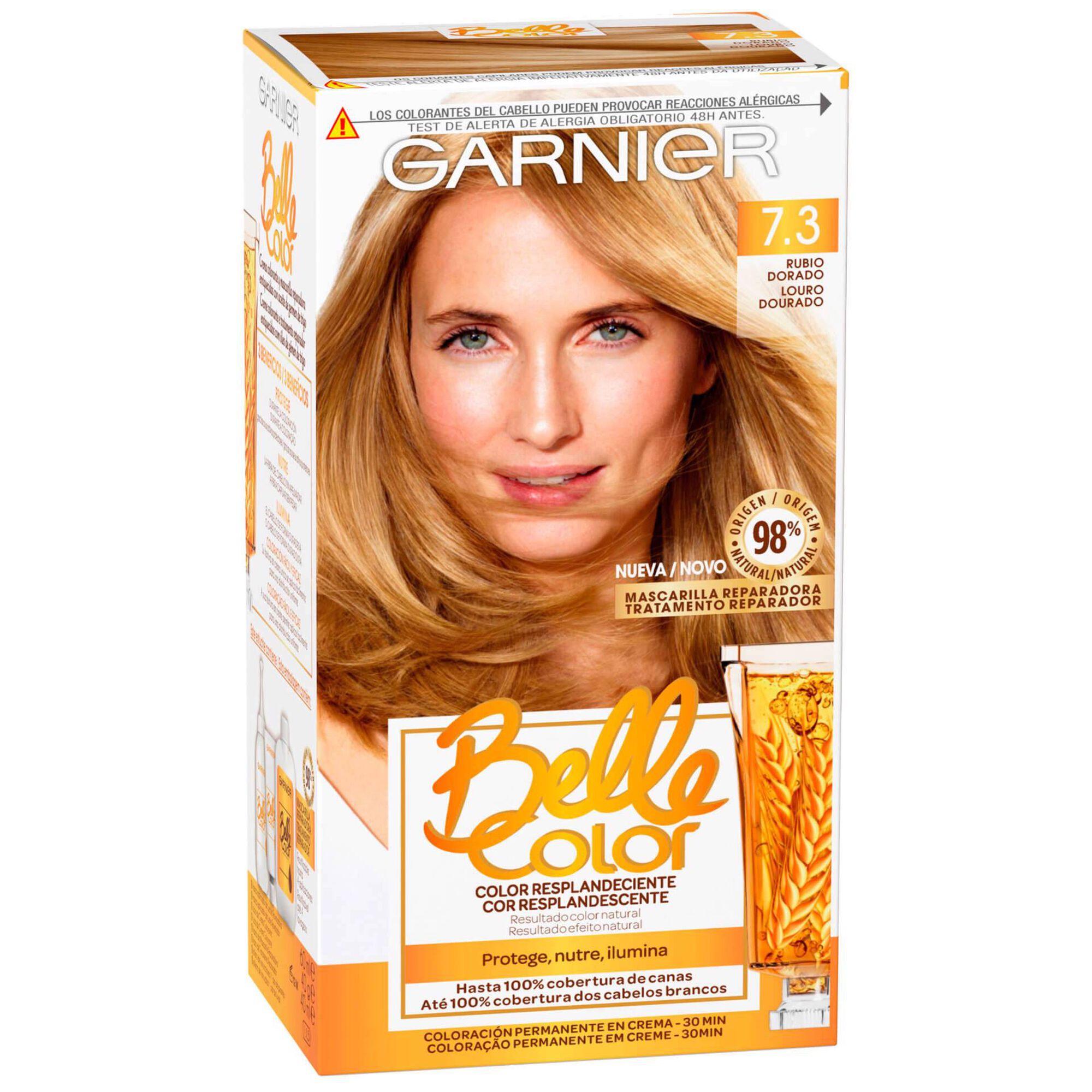 Coloração Permanente Belle Color Louro Dourado 7.3