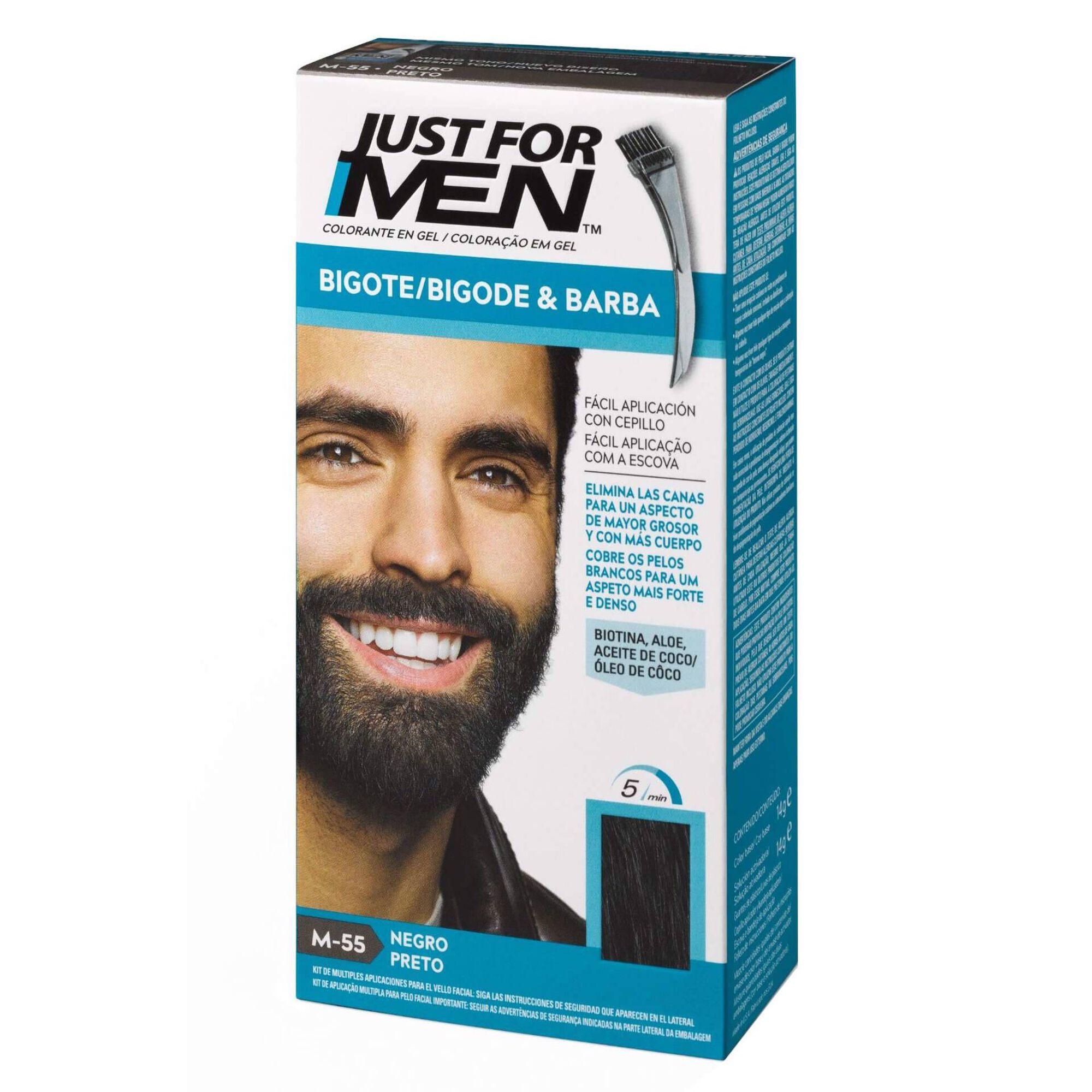 Coloração Homem Temporária para Barba Preto
