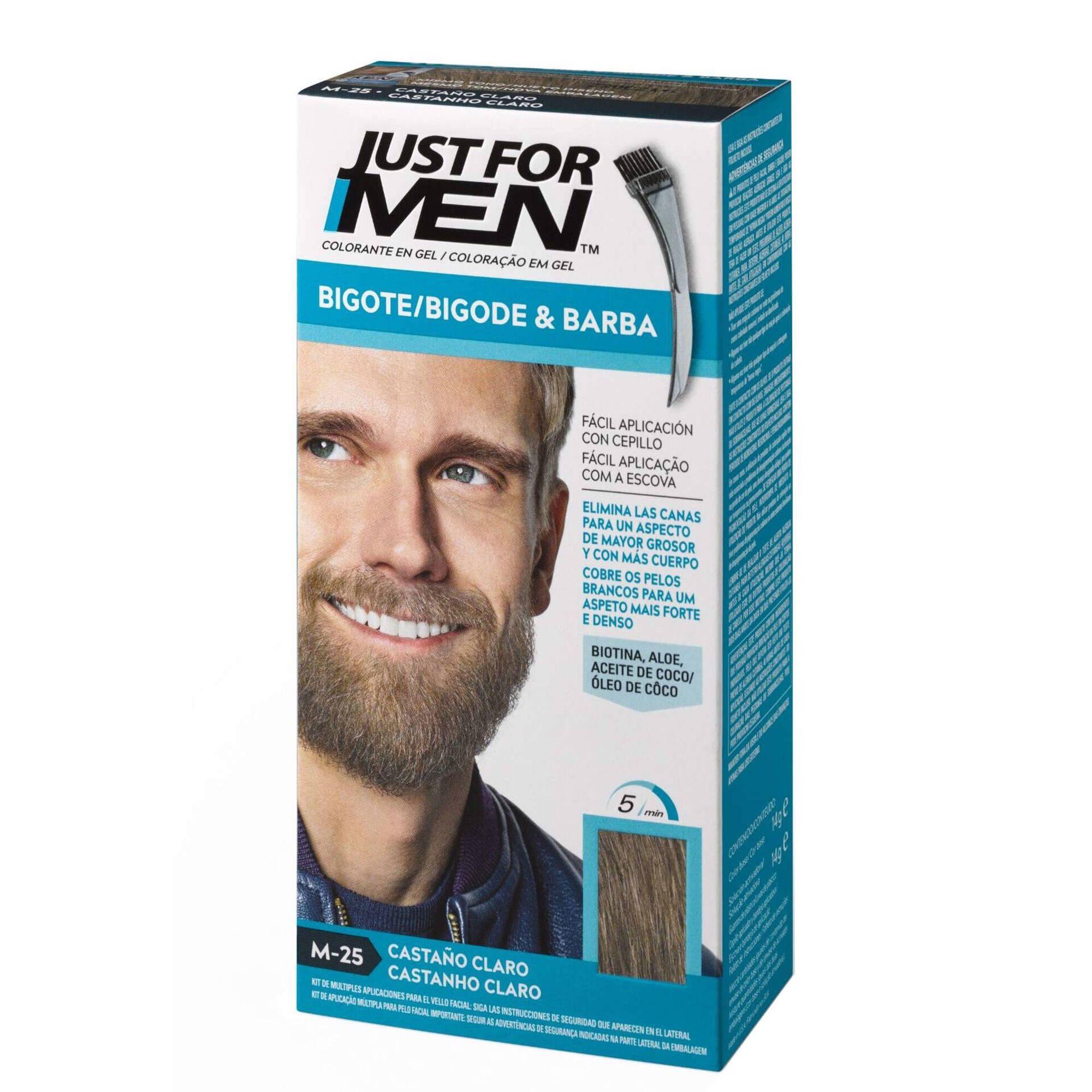 Coloração Homem Temporária para Barba Castanho Claro