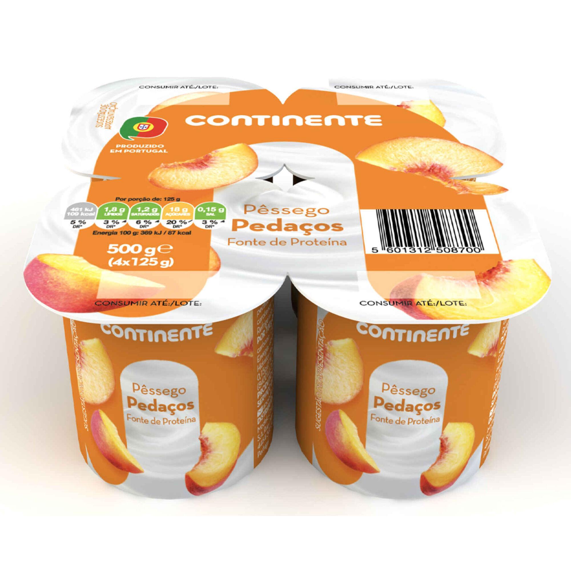 Iogurte Pedaços de Pêssego