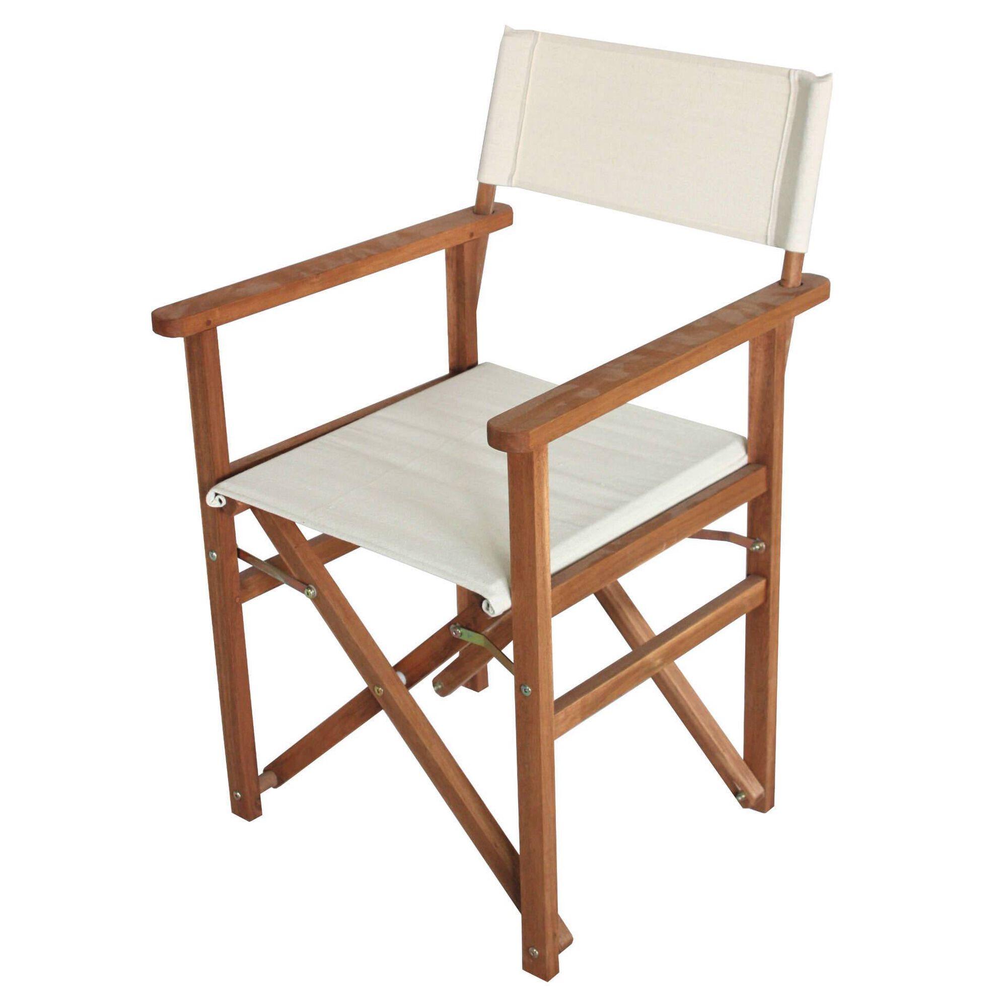 Cadeira de Realizador Madeira Acácia Cru Premium