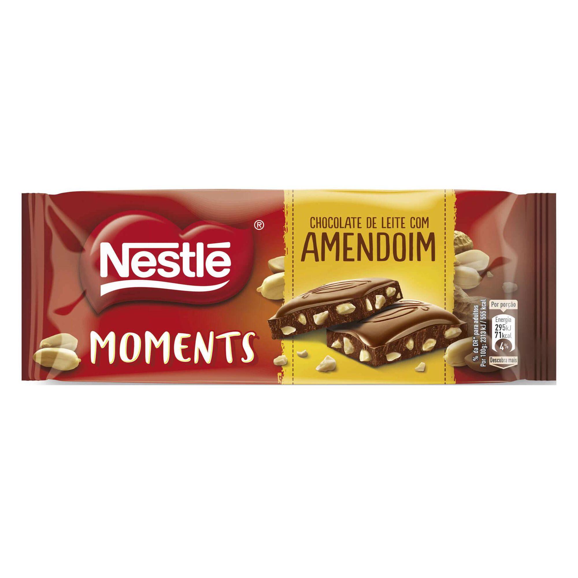Tablete de Chocolate de Leite com Amendoim