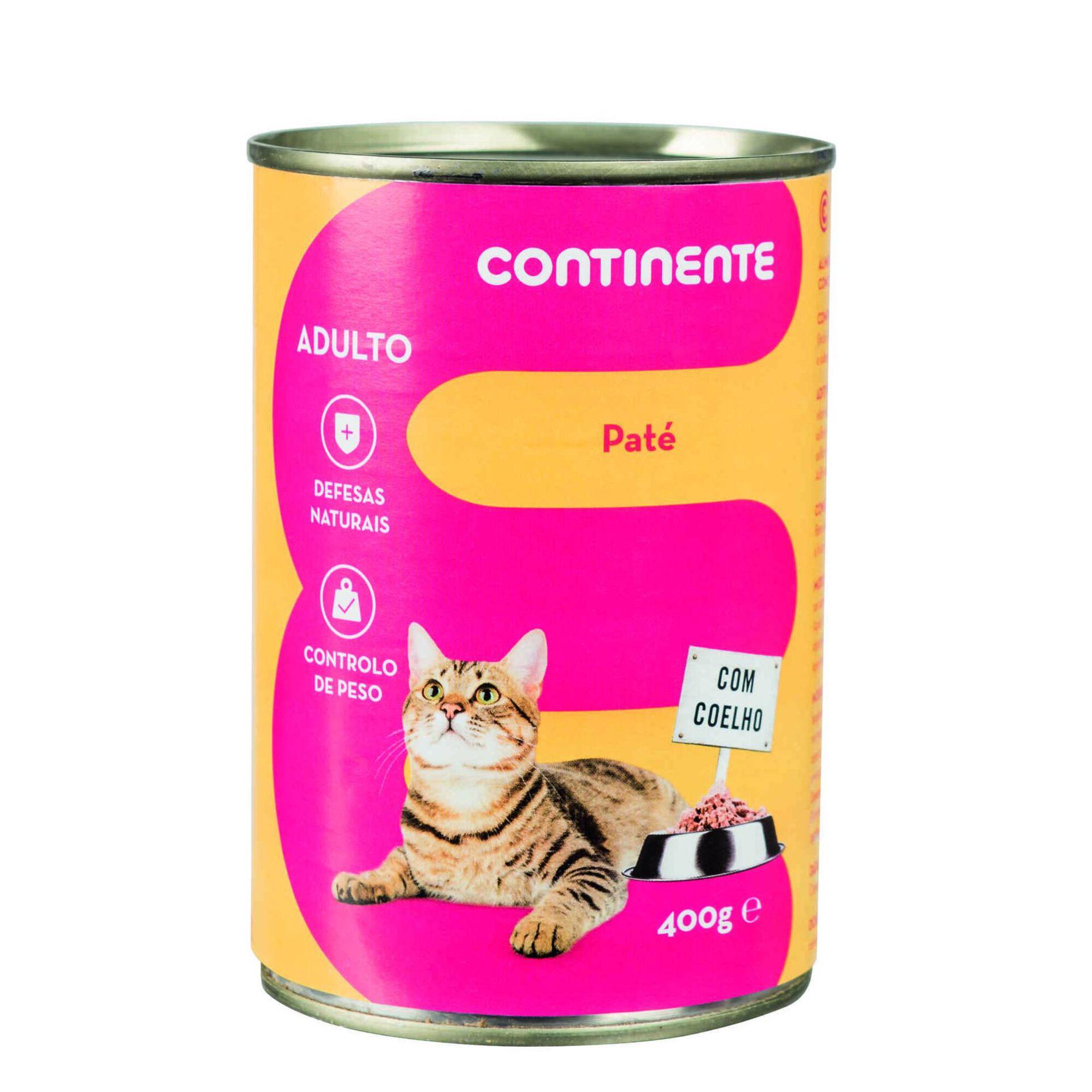 Comida Húmida para Gato Adulto Patê Coelho Lata