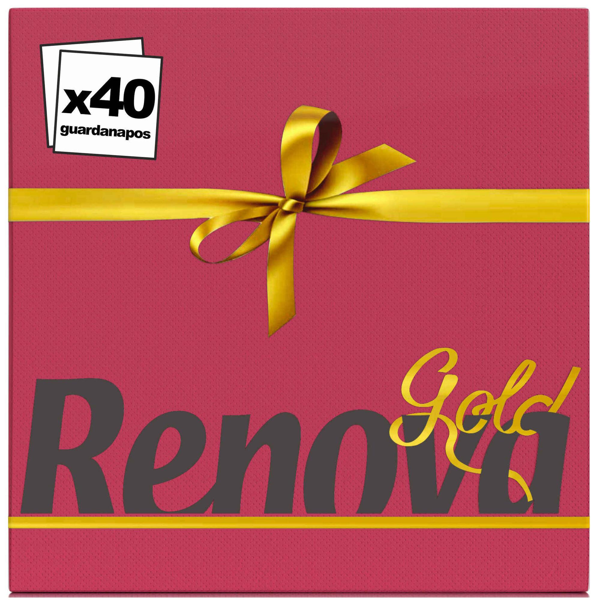 Guardanapos 2 Folhas Gold Bordeaux