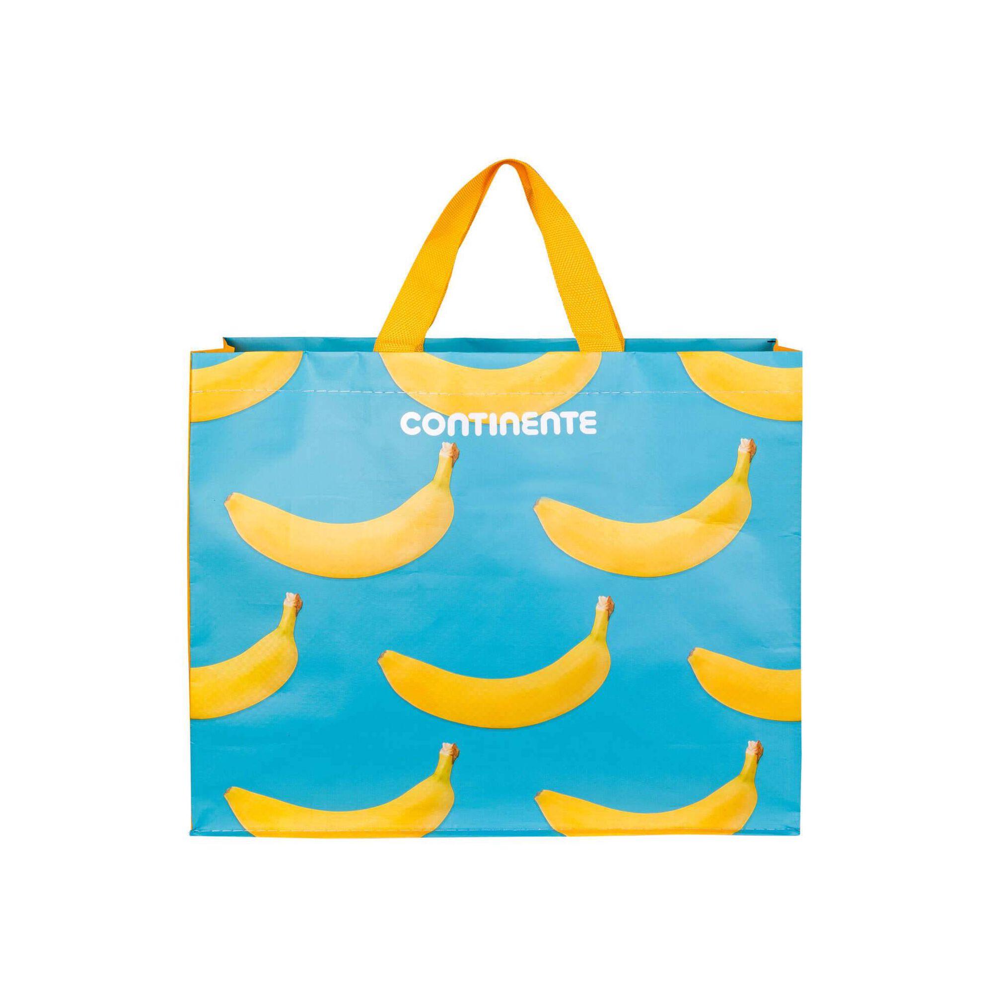 Saco Compras Reutilizável Ráfia Bananas