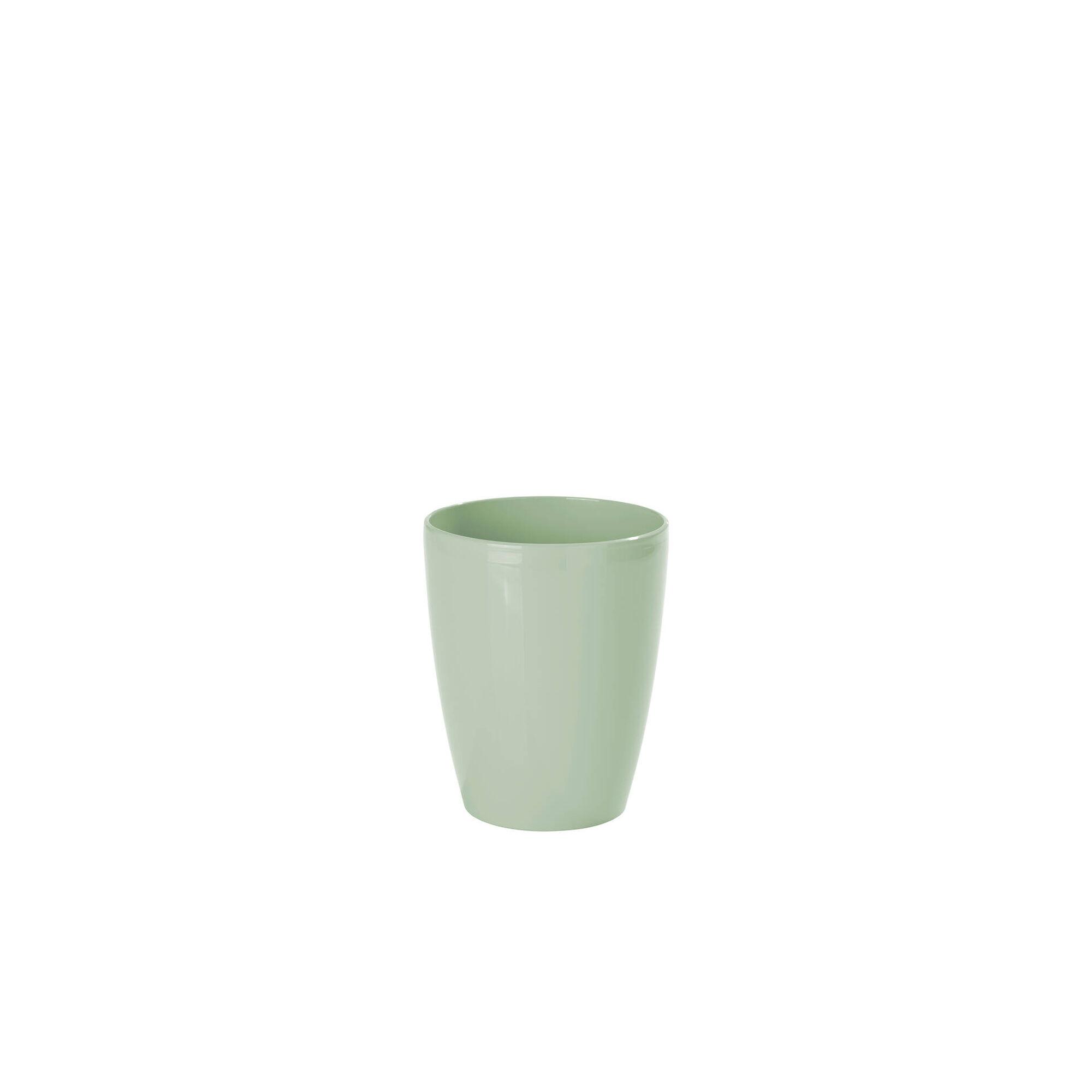 Vaso Redondo Plástico 15cm Verde