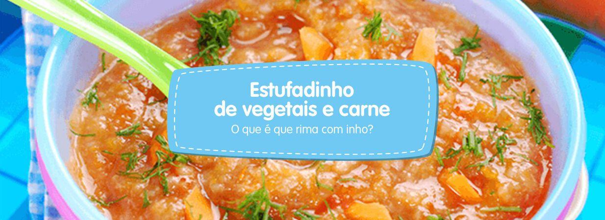 Estufadinho de vegetais e carne