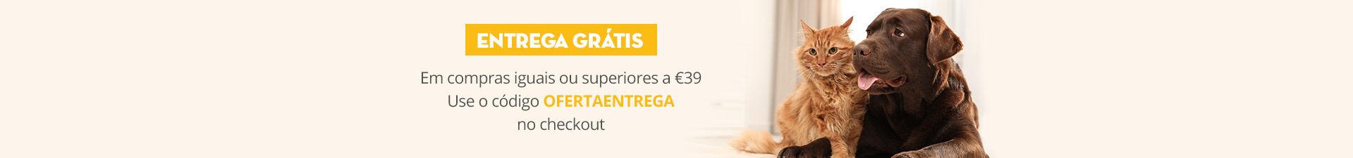 Entrega grátis em compras iguais ou superiores a 39€