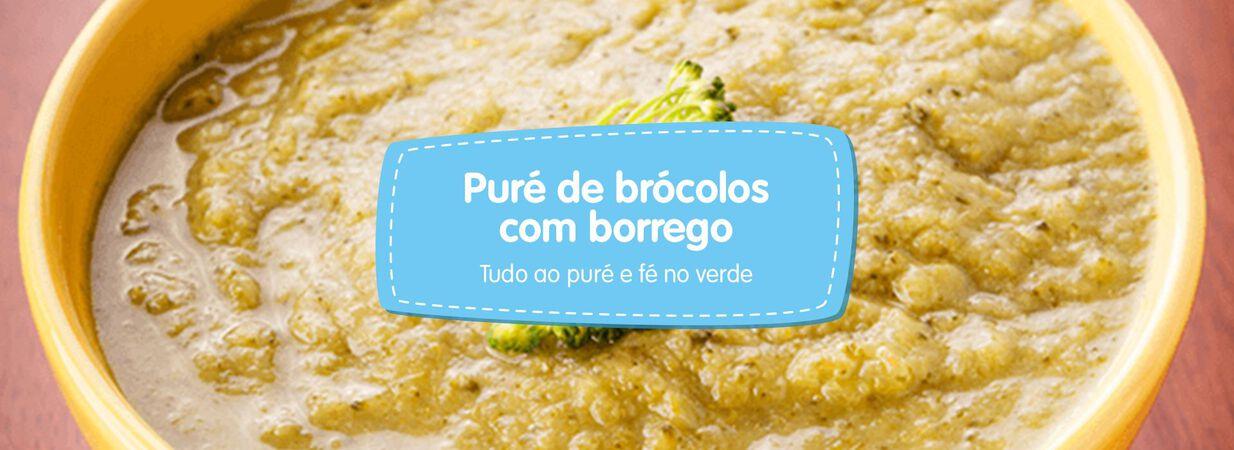 Puré de Brócolos com Borrego