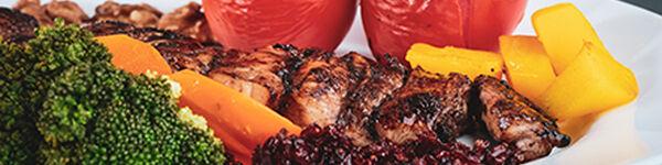 Carne, Peixe e Legumes para Churrasco