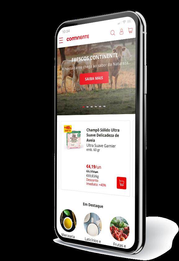 Nova app Continente Online