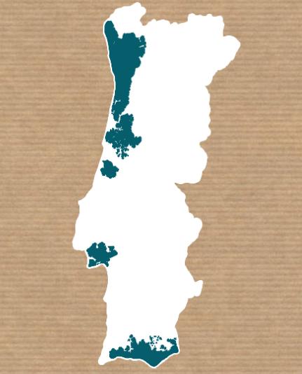 Mapa de áreas de entrega de cabazes de peixe